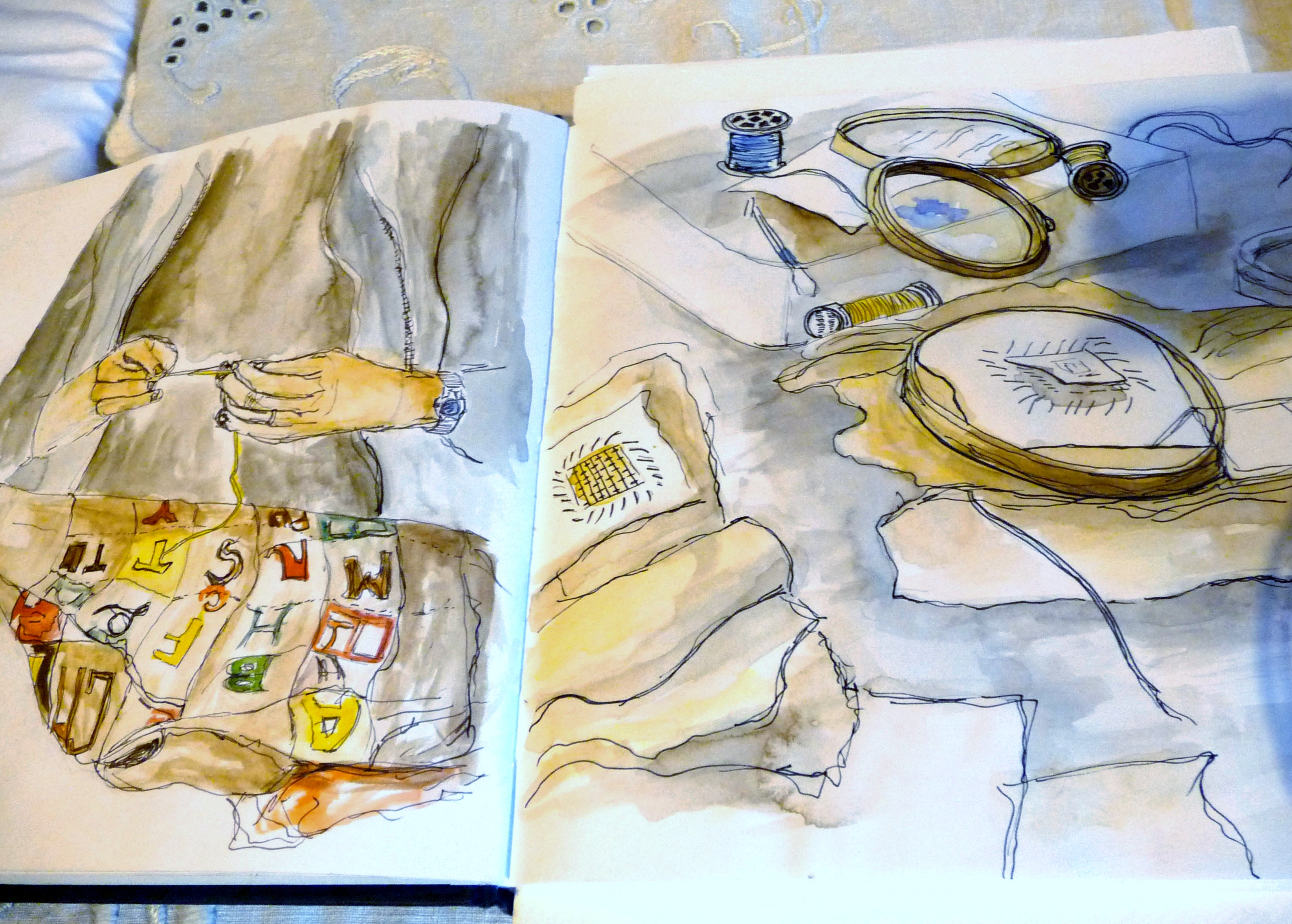 Hanna Wyn Roberts watercolour sketches