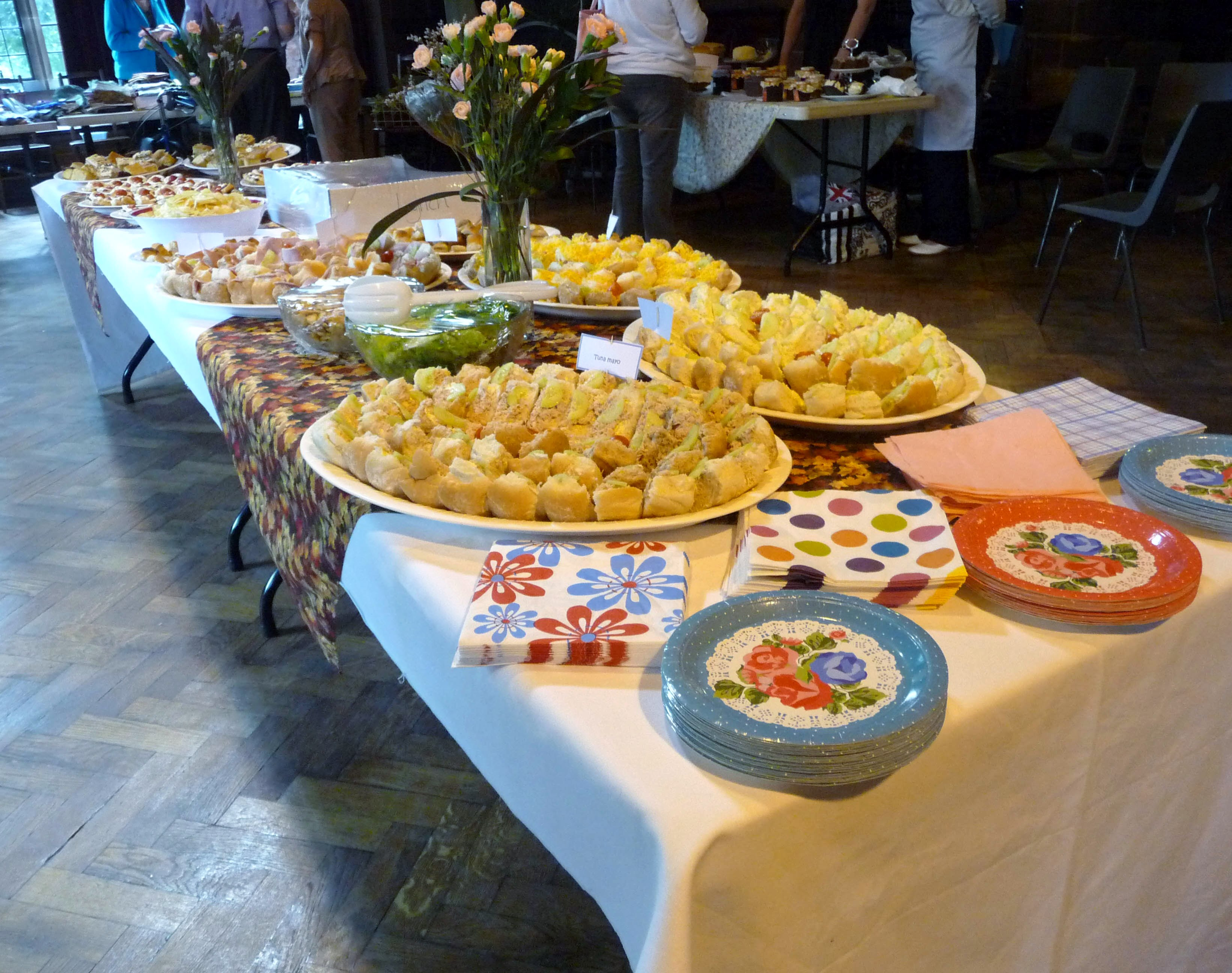 a magnificent buffet awaits our guests at 2014 September Tea Party