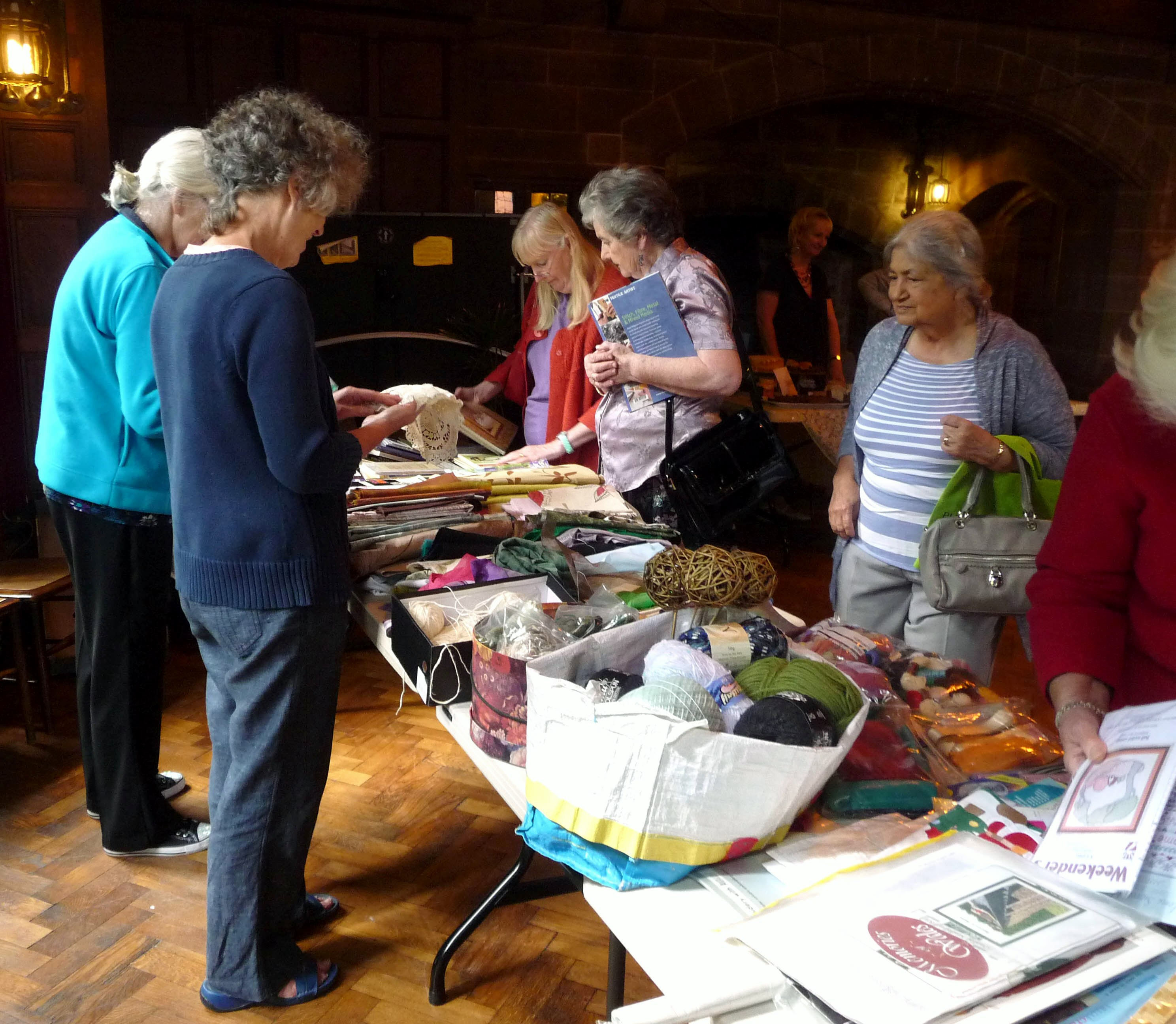 Elsie and Janet and the Table Sale stall