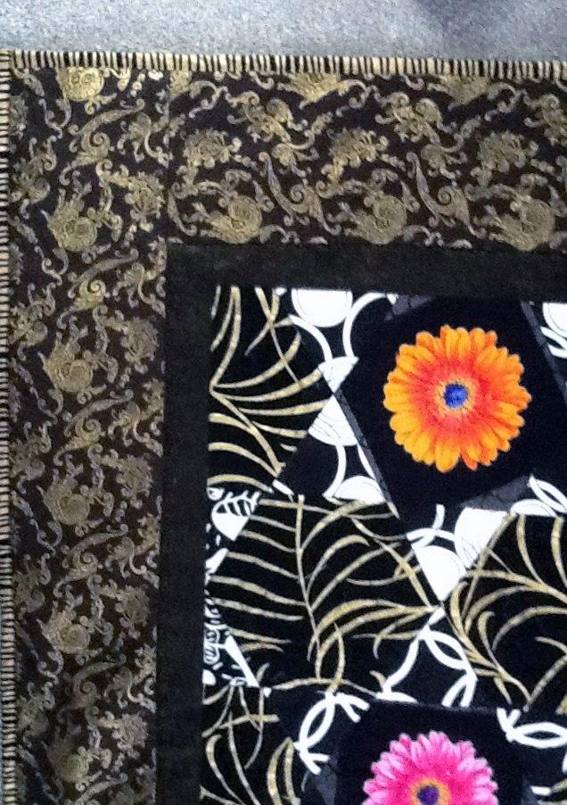 (detail) completed Kaffe Fassett quilt by Maureen Crawford