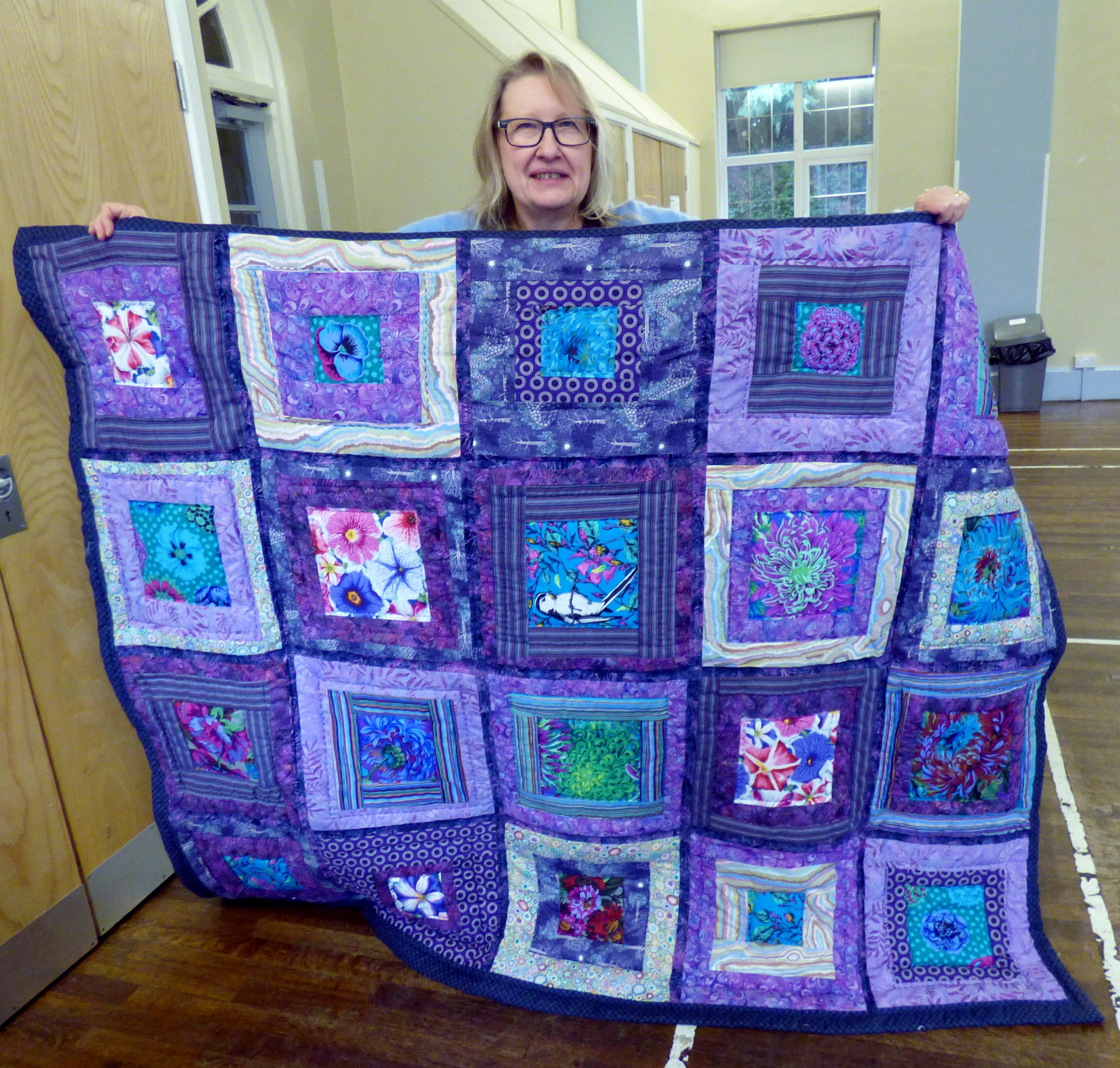quilt by Gill Roberts made from off cuts from the Kaffe Fassett workshop