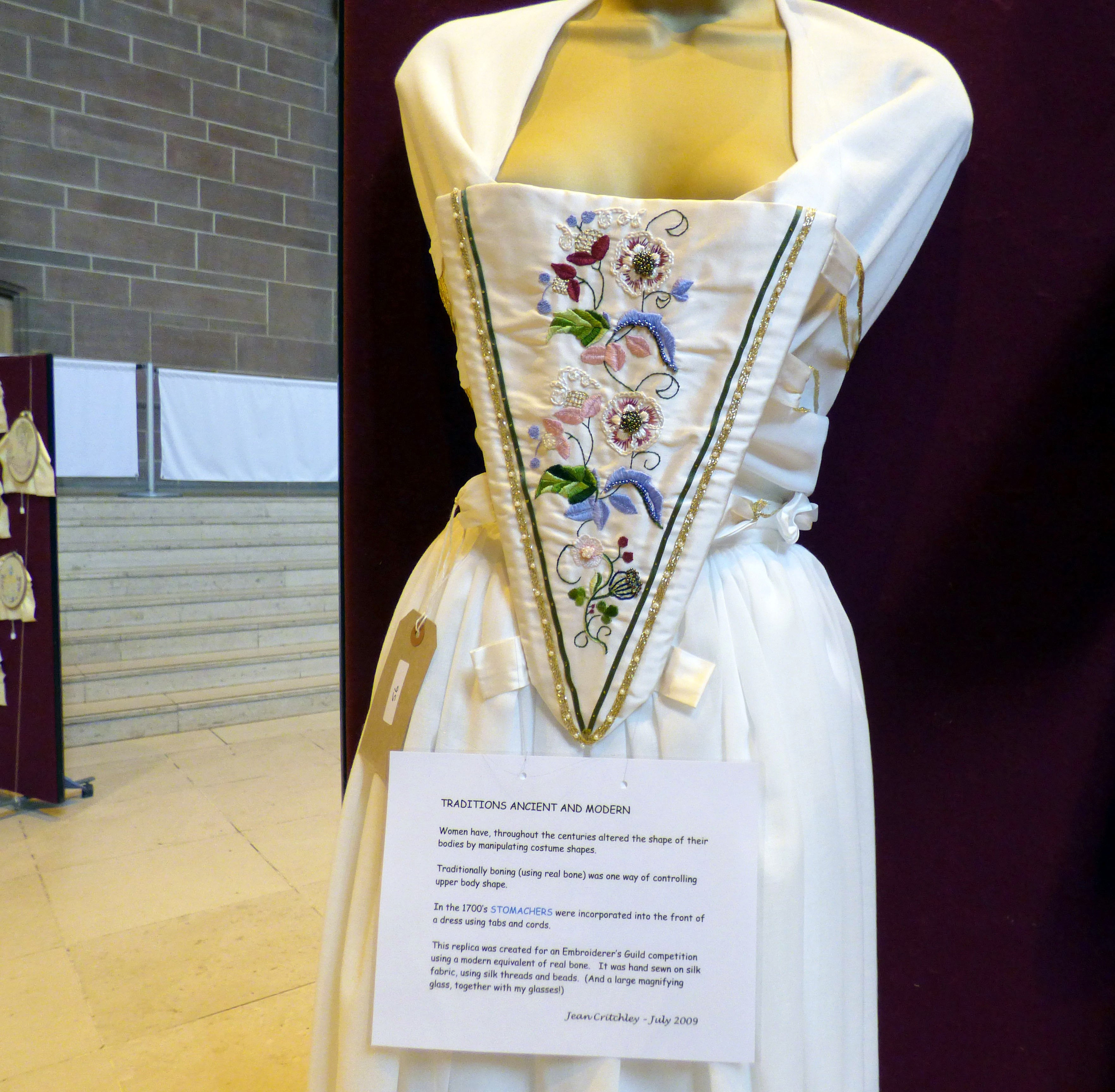 STOMACHER by Jean Critchley at 60 Glorious Years exhibition 2016