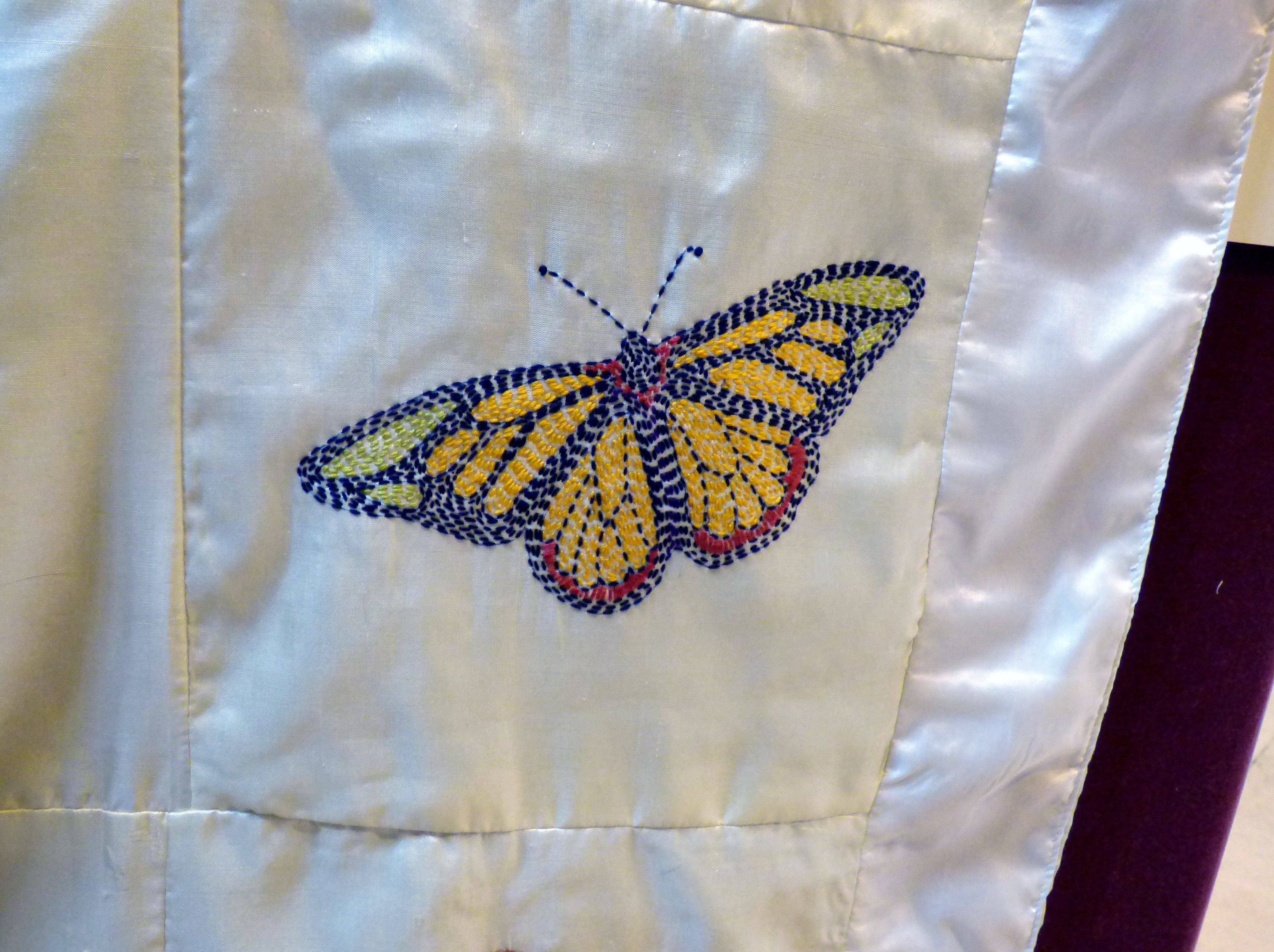 detail from Sreepur BUTTERFLY QUILT at 60 Glorious Years exhibition 2016