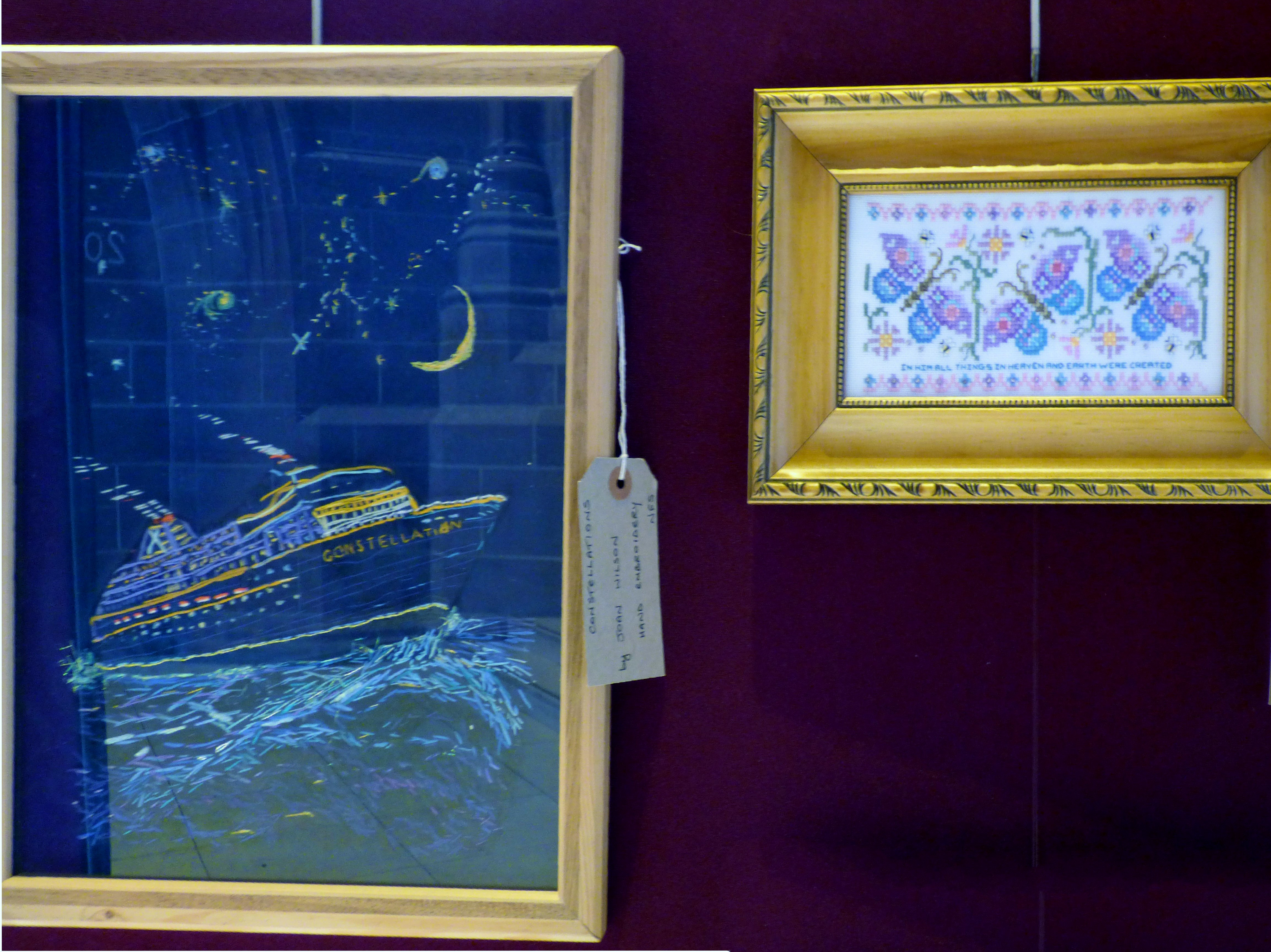 CONSTELLATIONS by Joan Wilson and ALL THINGS by Ann Thyer at 60 Glorious Years exhibition 2016