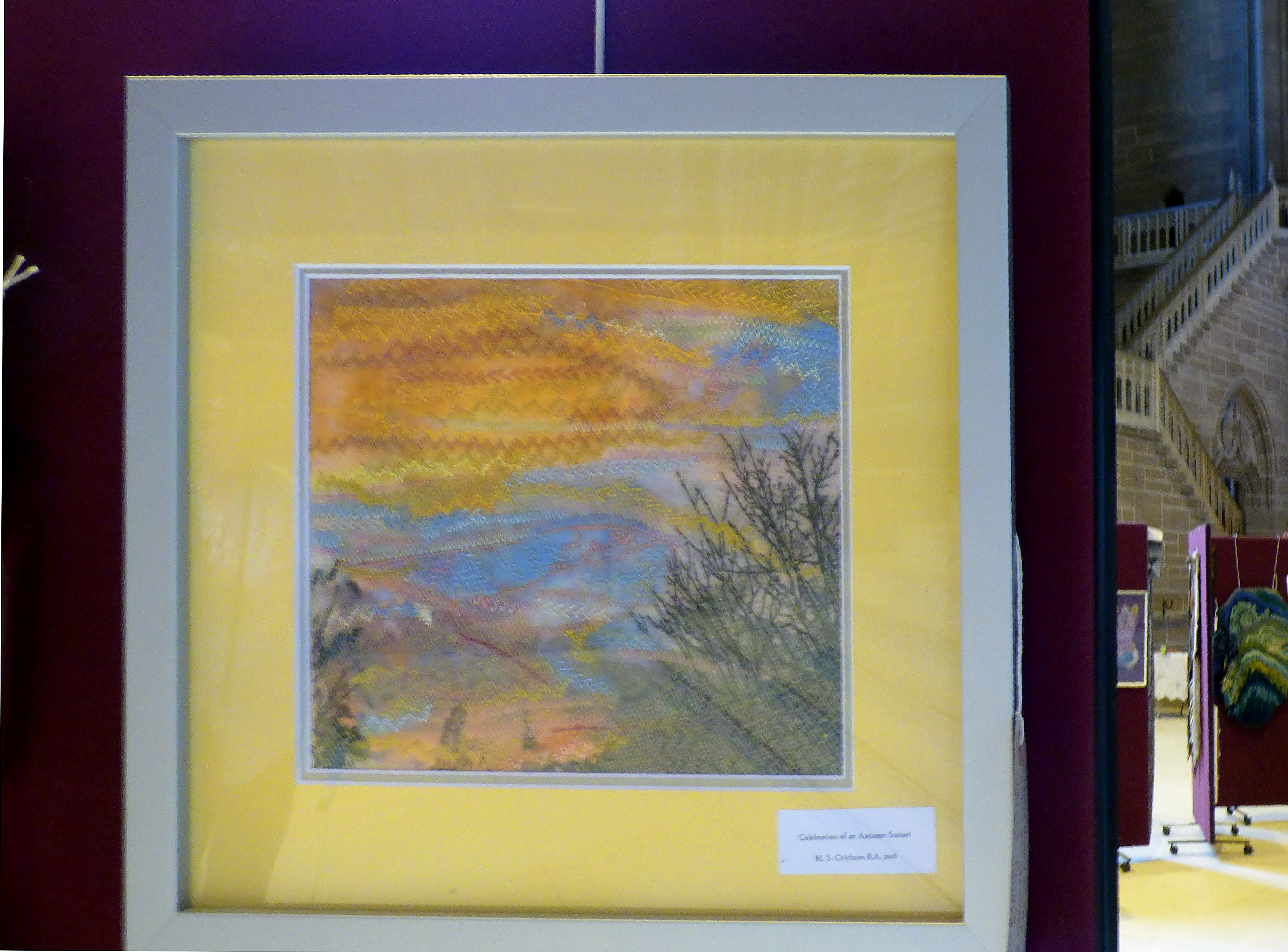 CELEBRATION OF AN AUTUMN SUNSET by Margaret Crichton at 60 Glorious Years exhibition 2016