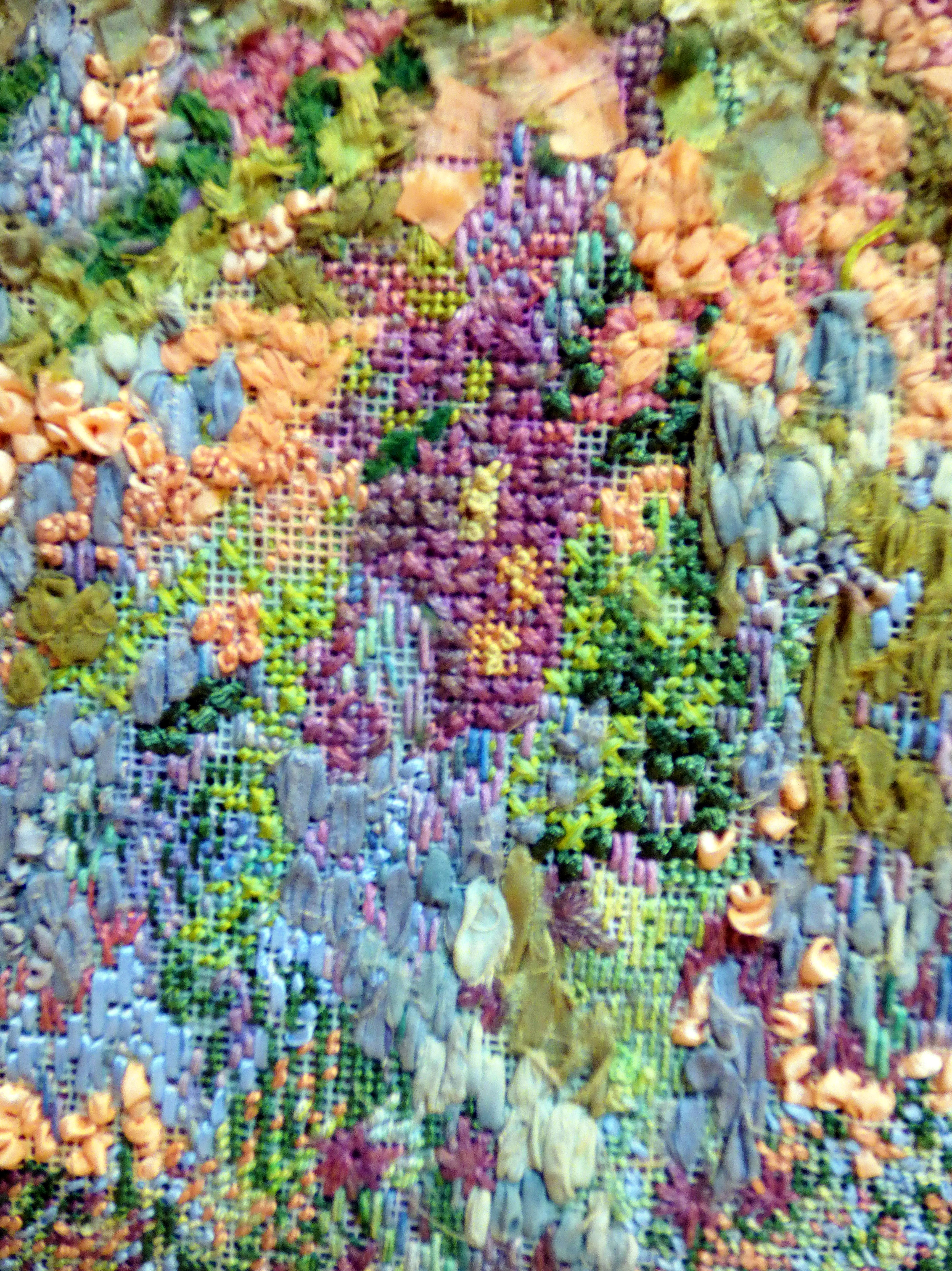 detail of THE GARDEN by June Hodgkiss at 60 Glorious Years exhibition 2016