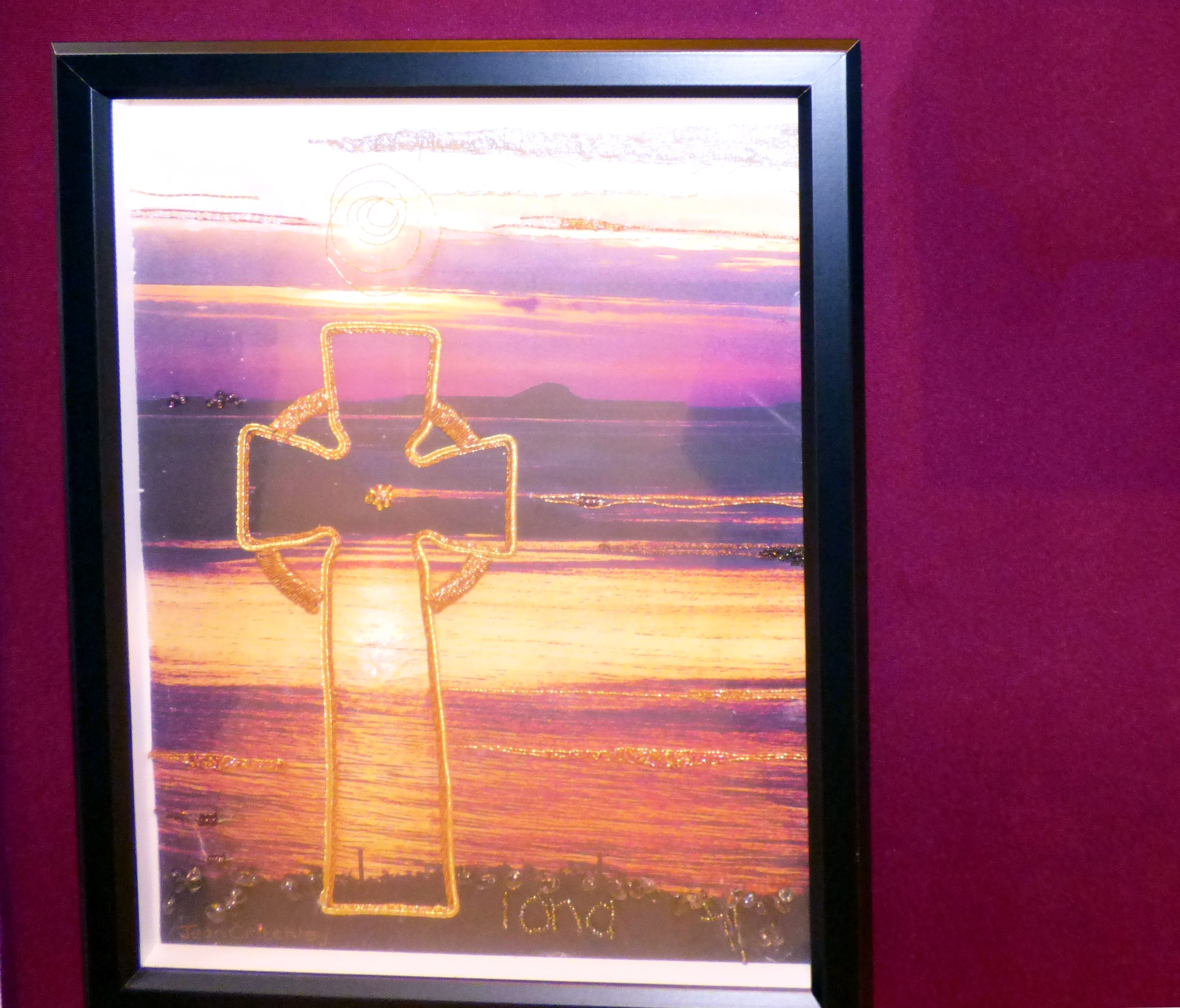 CELTIC CROSS IONA by Jean Critchley at 60 Glorious Years exhibition 2016