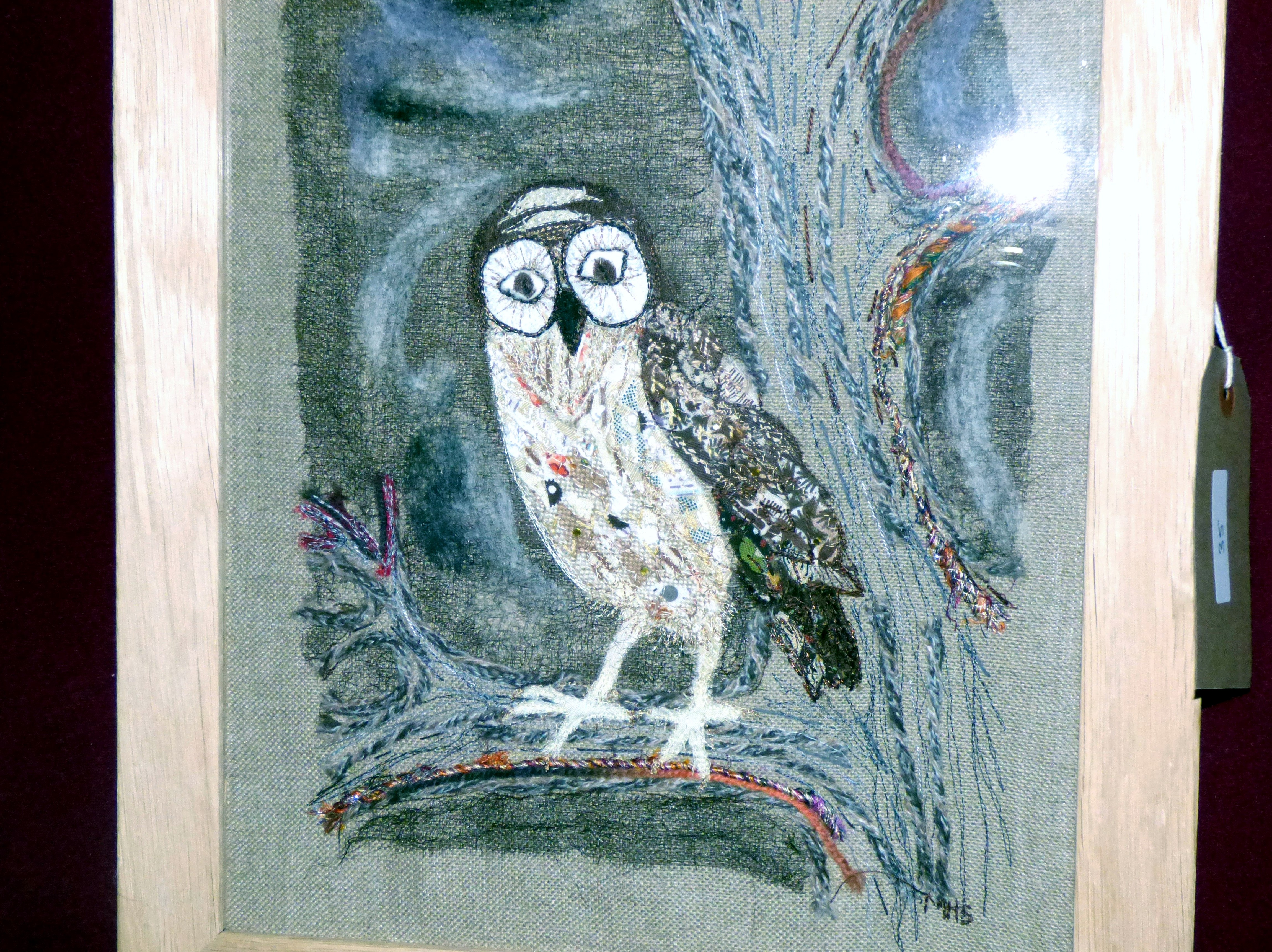 OWL FOR INDIRA by Marie Stacey at 60 Glorious Years exhibition 2016