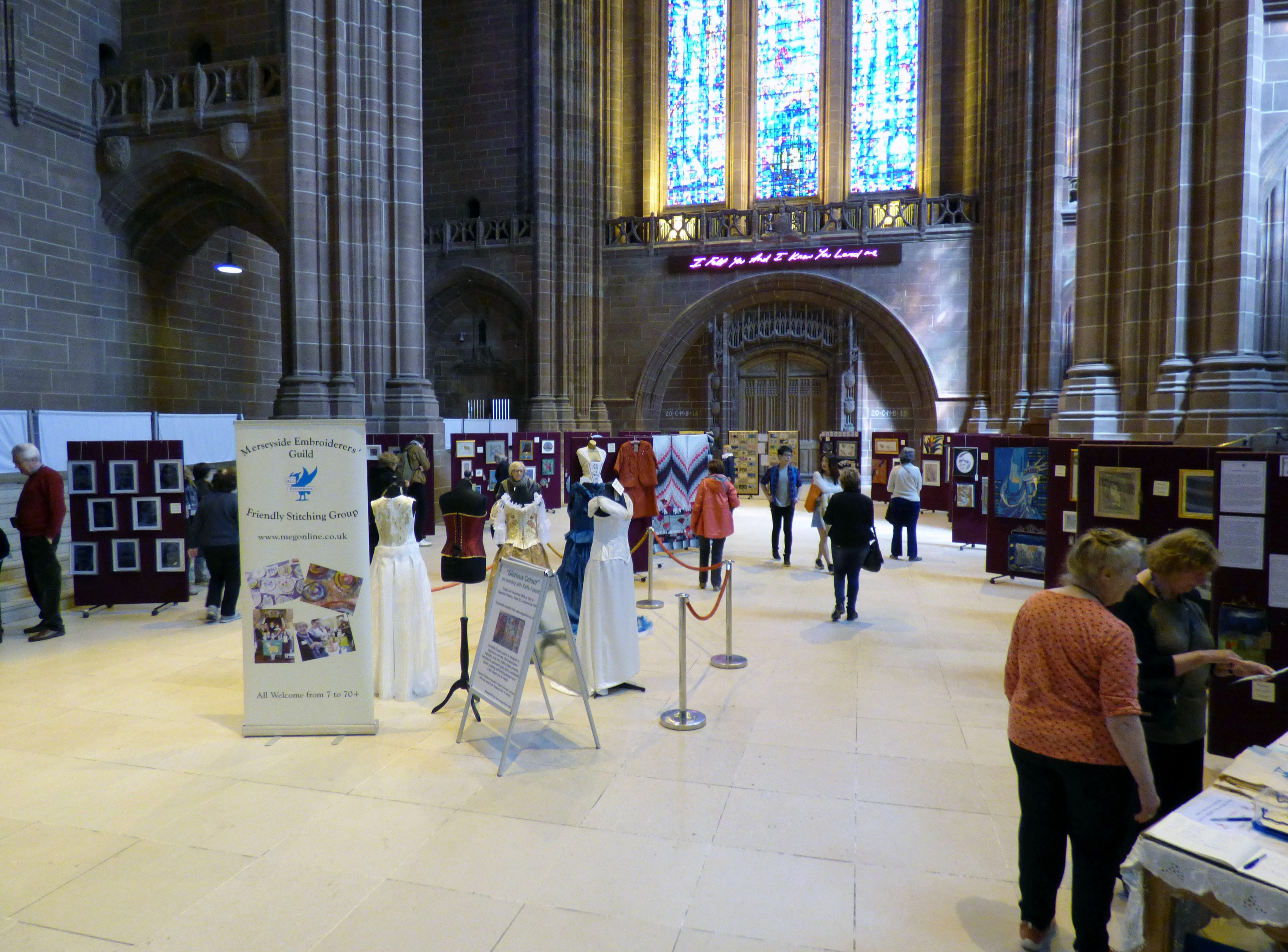MEG 60 Glorious Years exhibition at Liverpool Anglican Cathedral 2016