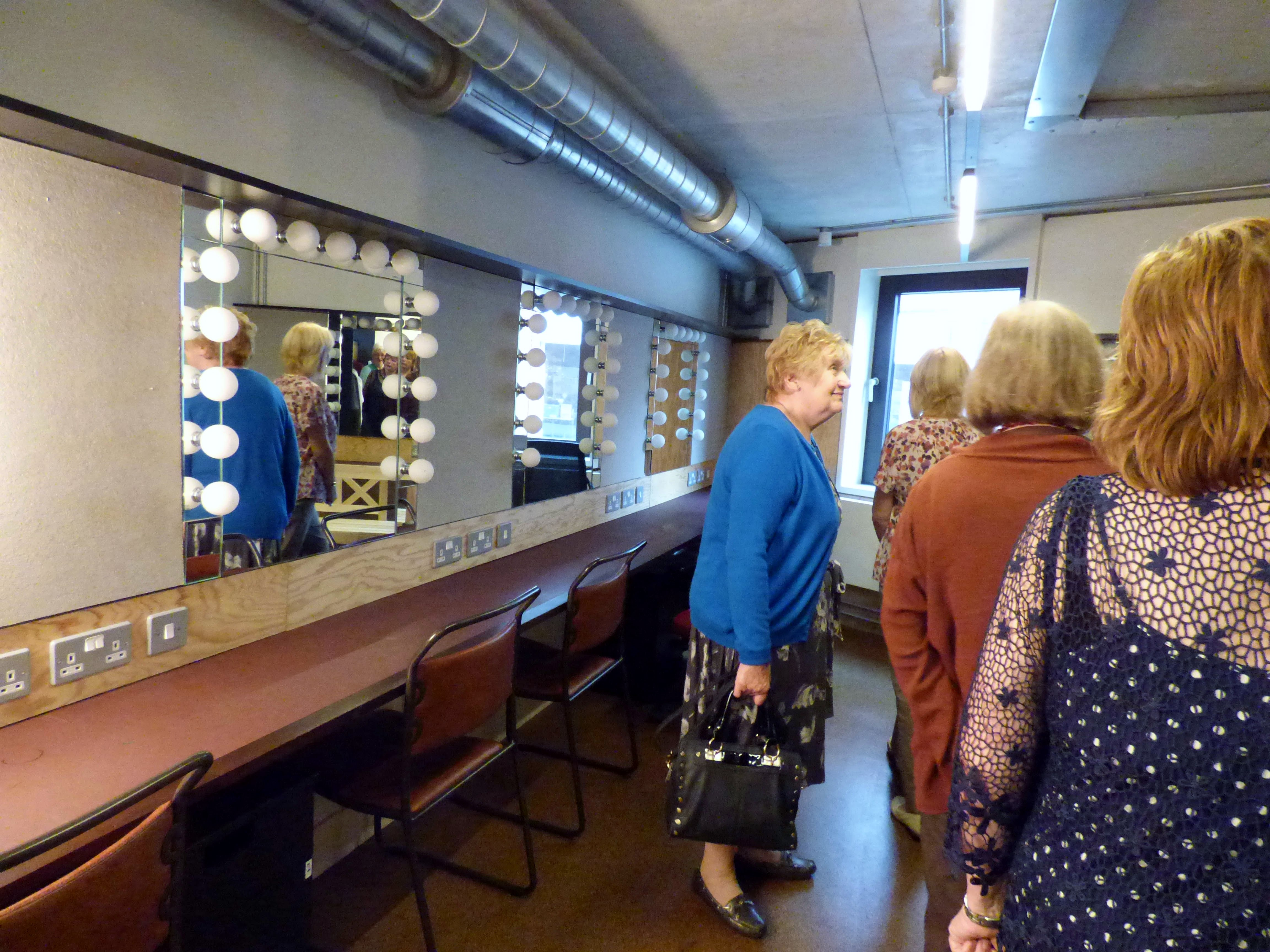 The accessible dressing room of Everyman Theatre, Liverpool, July 2016. There are 4 other dressing rooms in the theatre.