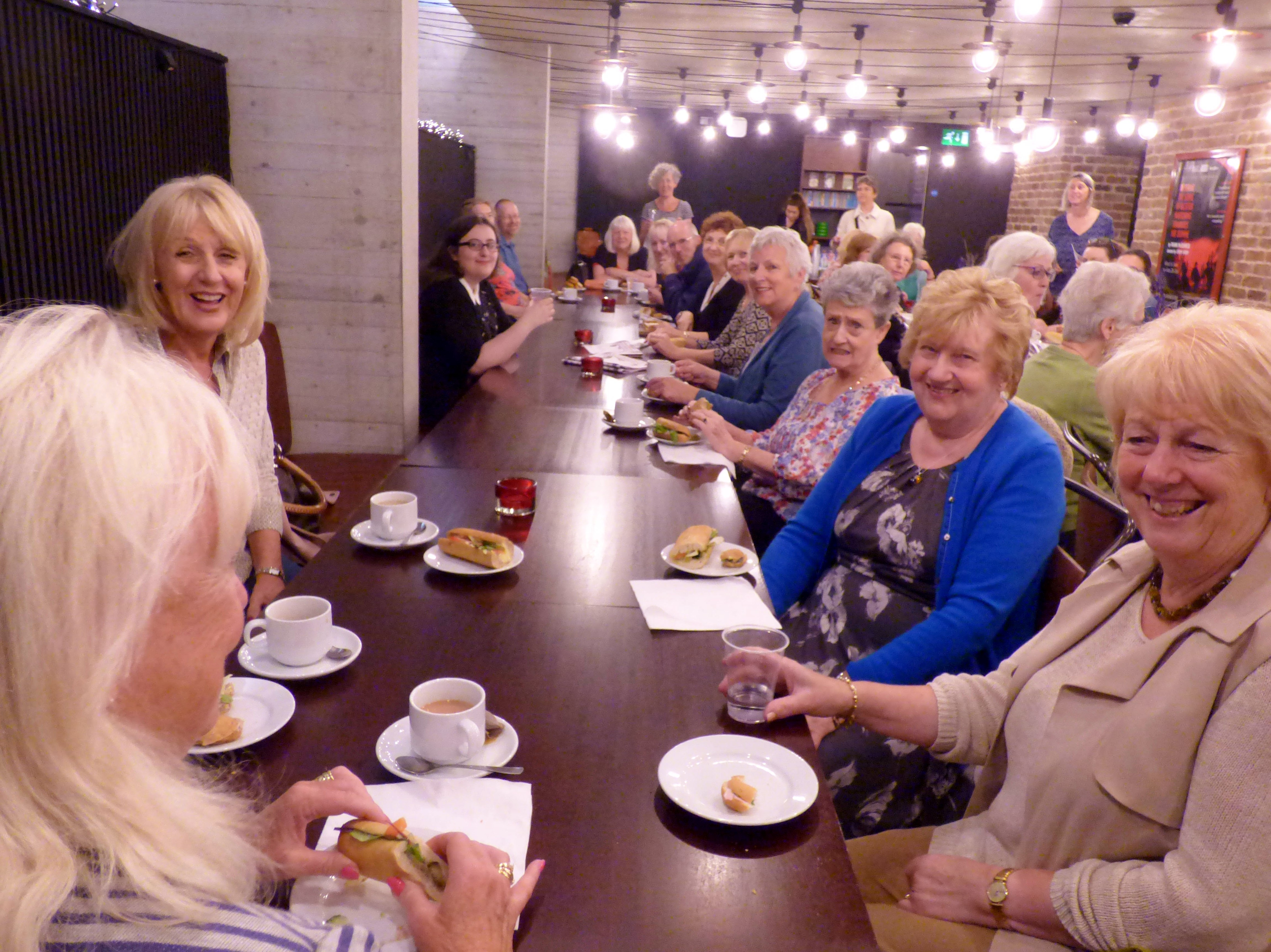 MEG members and visitors in the Everyman Theatre, July 2016