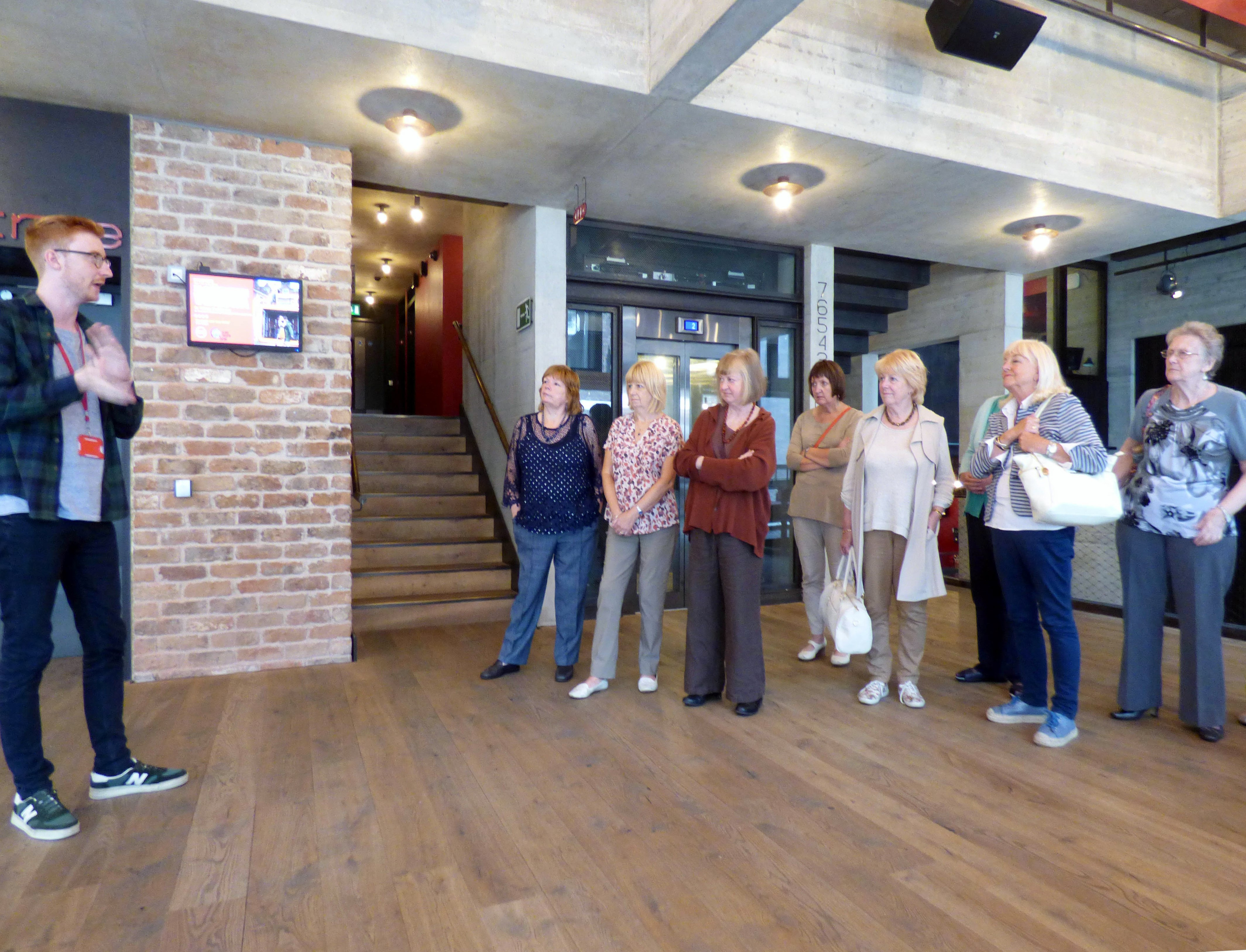 This is Brian our guide on our backstage tour of Everyman Theatre, Liverpool, July 2016