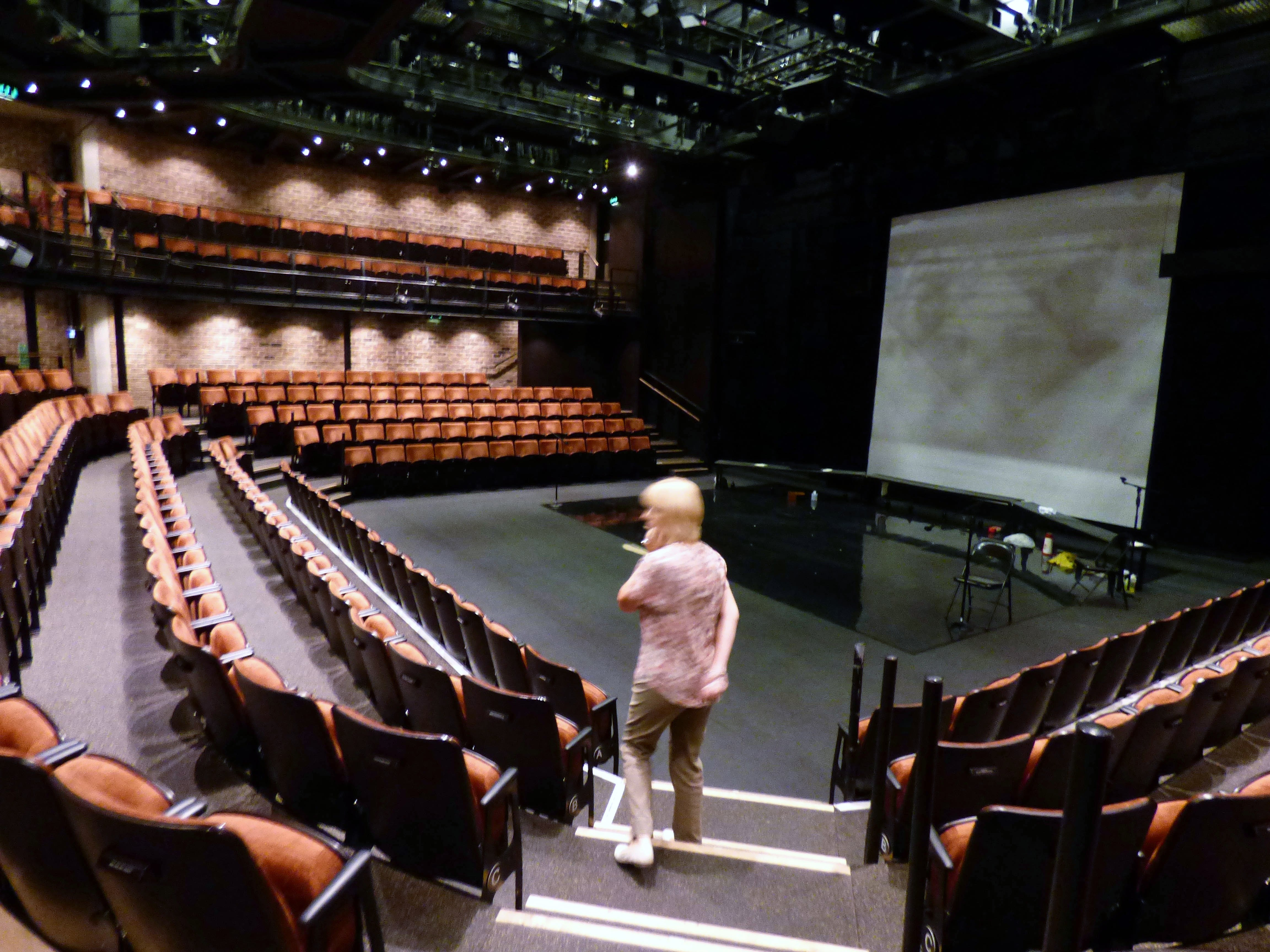 The seatng area and stage of Everyman Theatre, Liverpool, July 2016