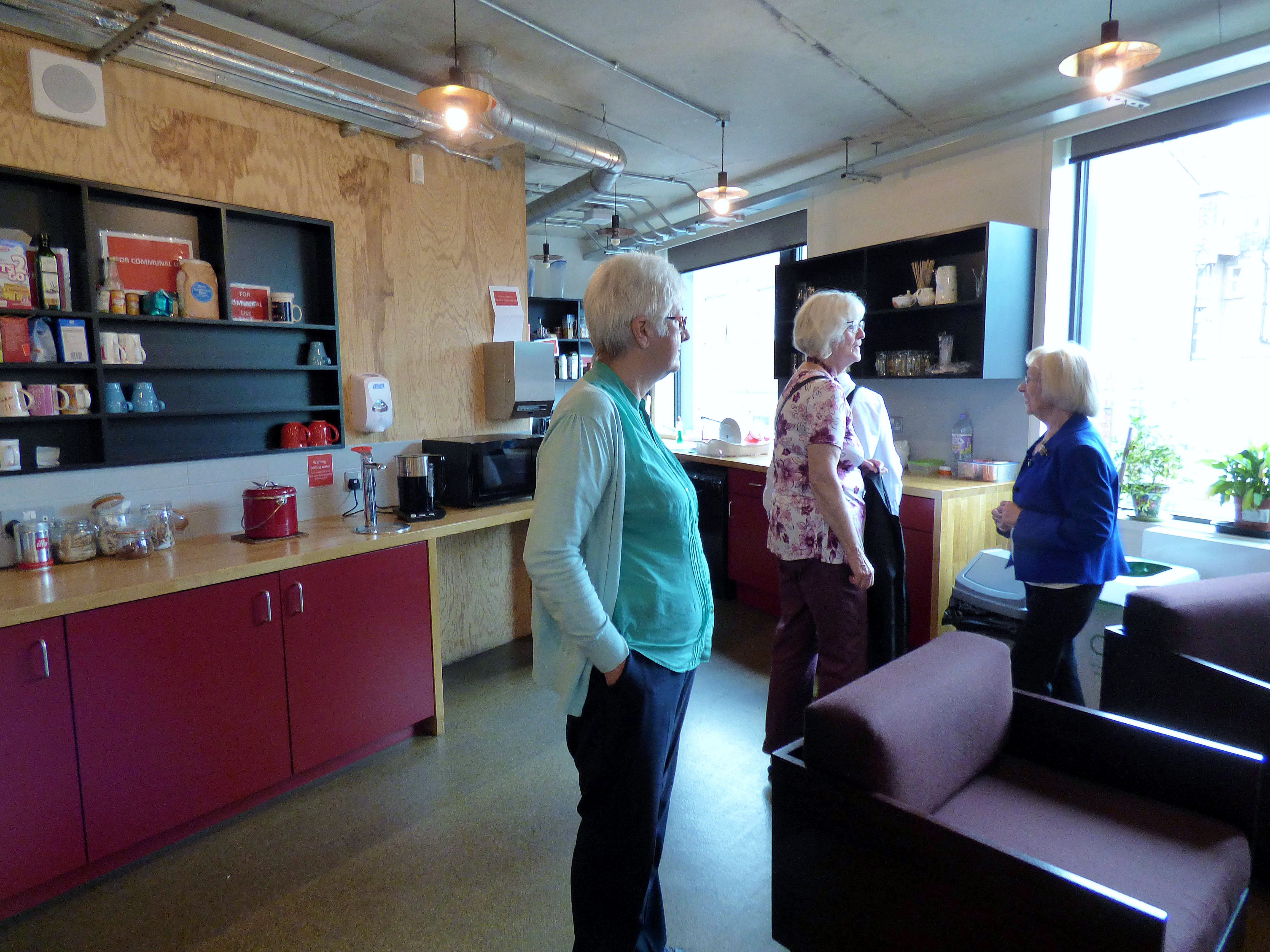 Inside the Green Room of Everyman Theatre, Liverpool, July 2016