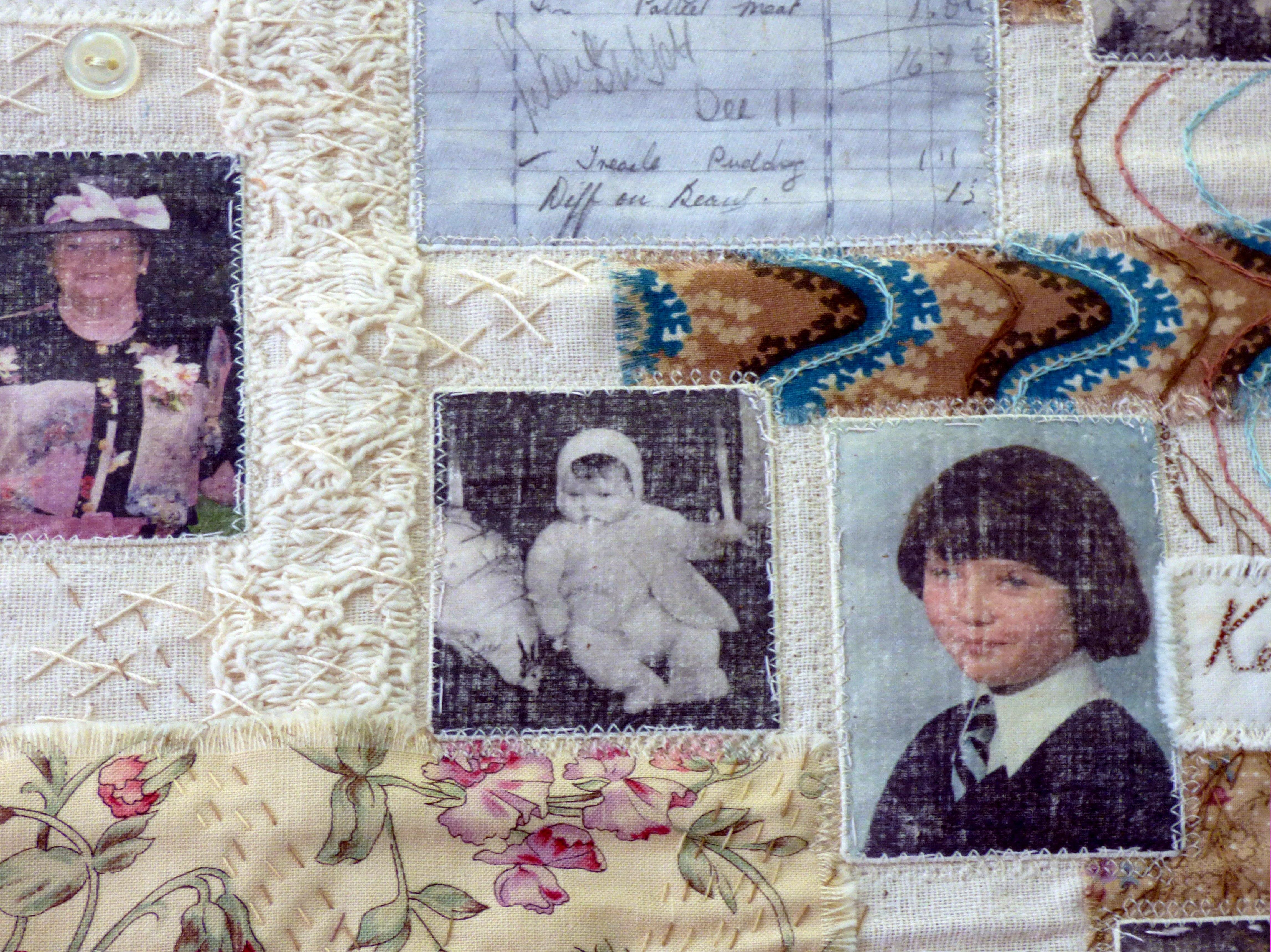 detail of FIVE GENERATIONS by Sandra Kedzlie, Parbold EG