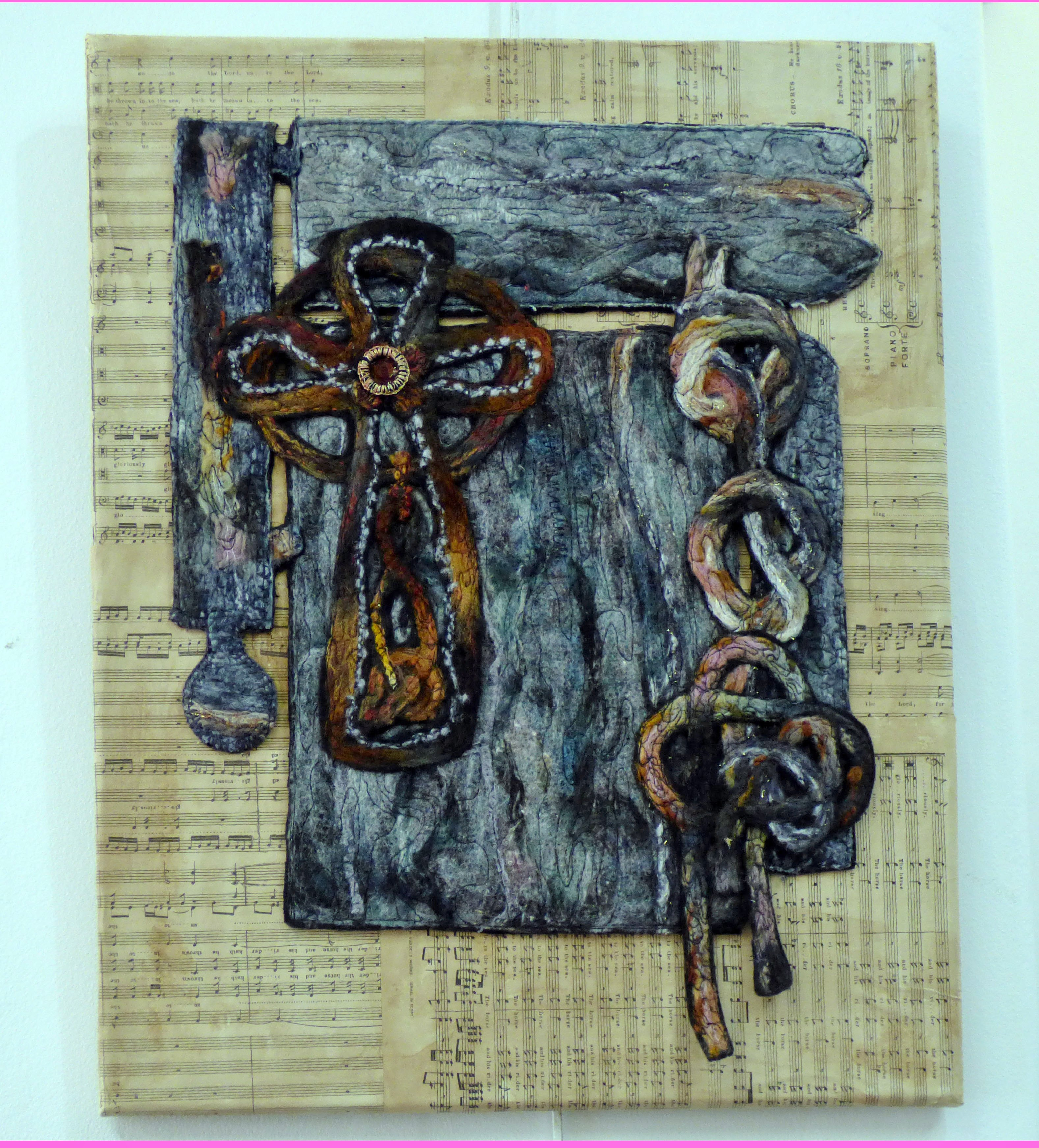CELTIC CROSS by Sandra Kedzlie, Parbold EG