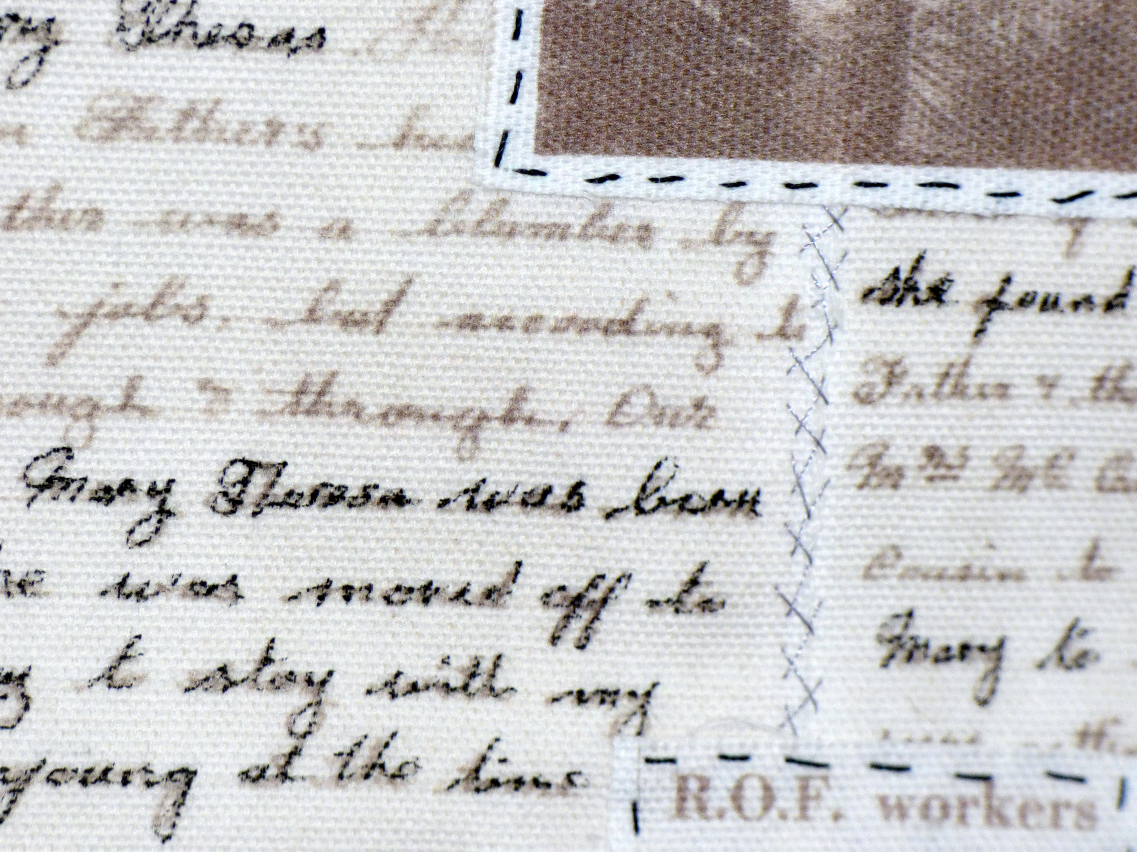 detail of NOTES FROM THE NOLANS by Angela McLarnon, Parbold EG