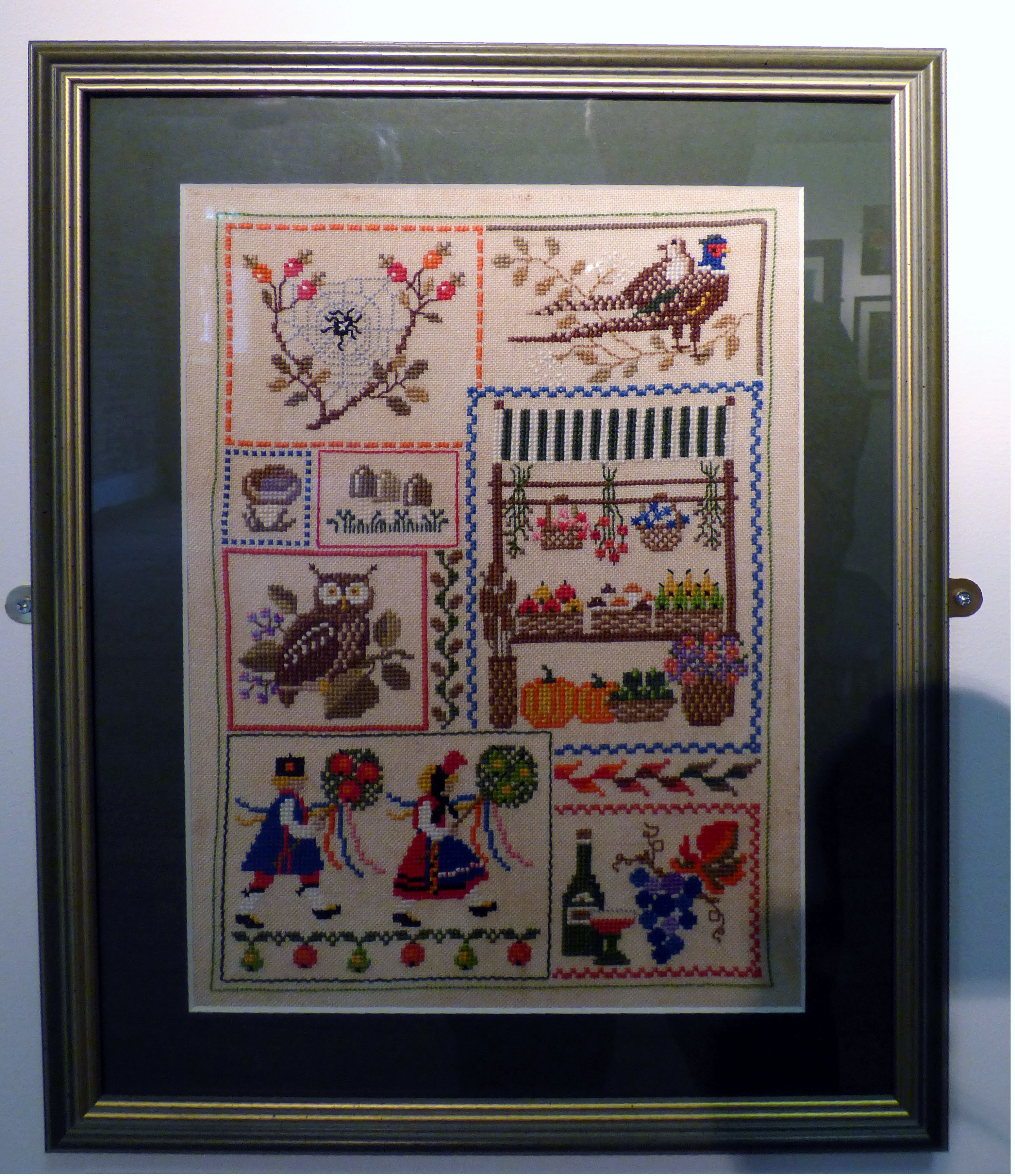 AUTUMN DAYS by patricia Caldwell, cross stitch