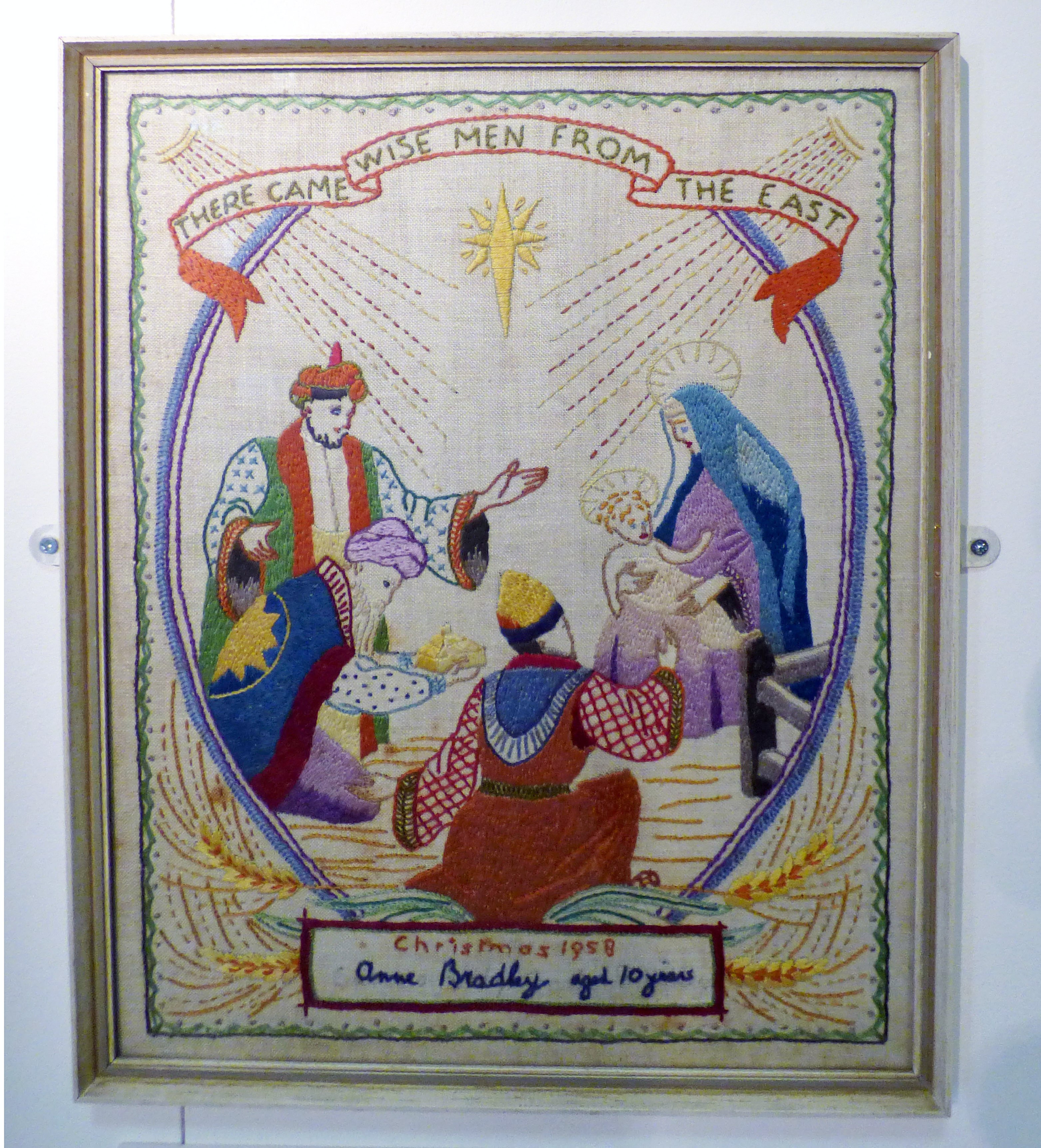NATIVITY by Anne Butler, 1959, winning entry to a competition in a girl's comic