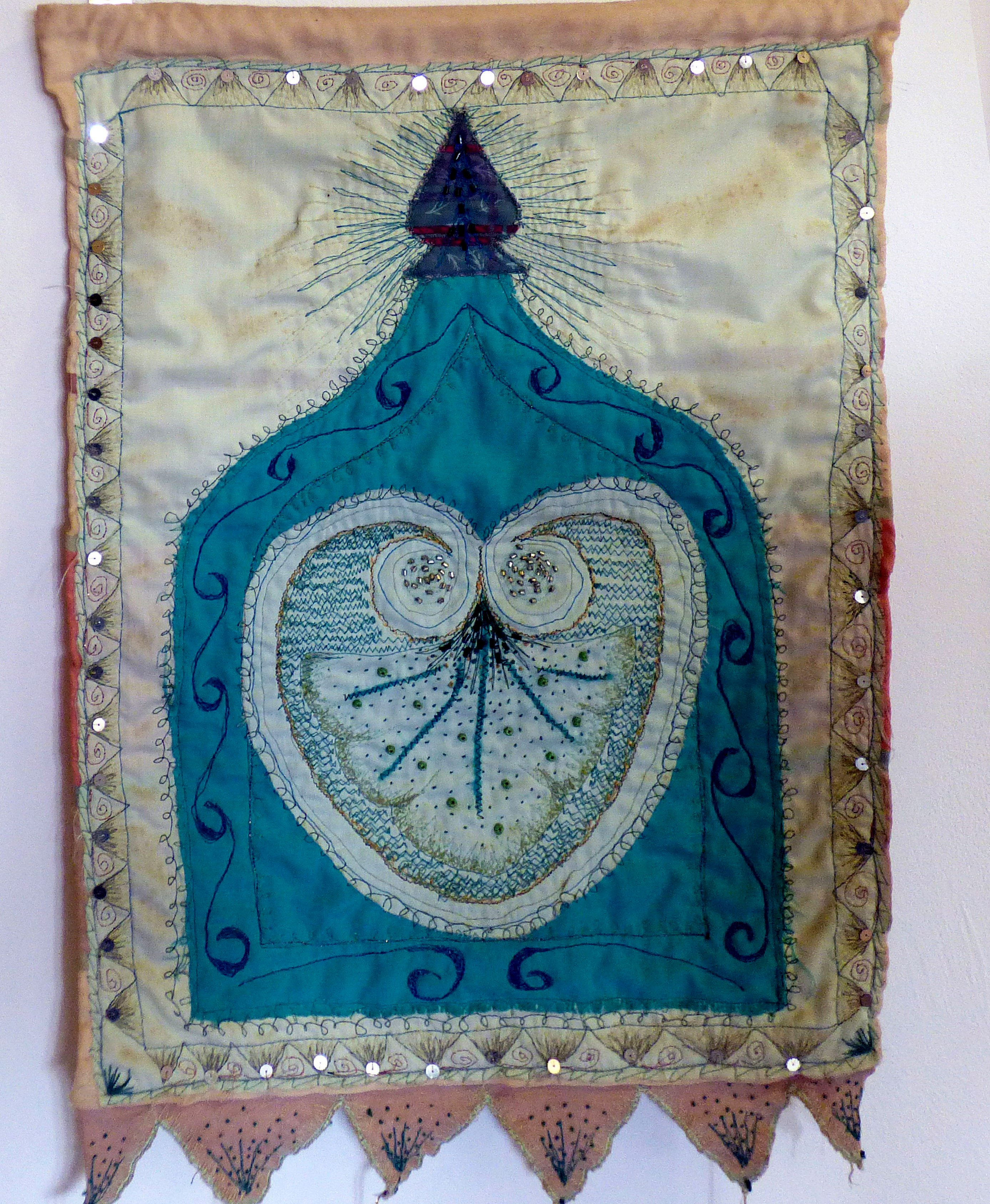 INSPIRED BY ARCHITECTURE by Victoria Flood, 1993, applique with hand and machine embroidery