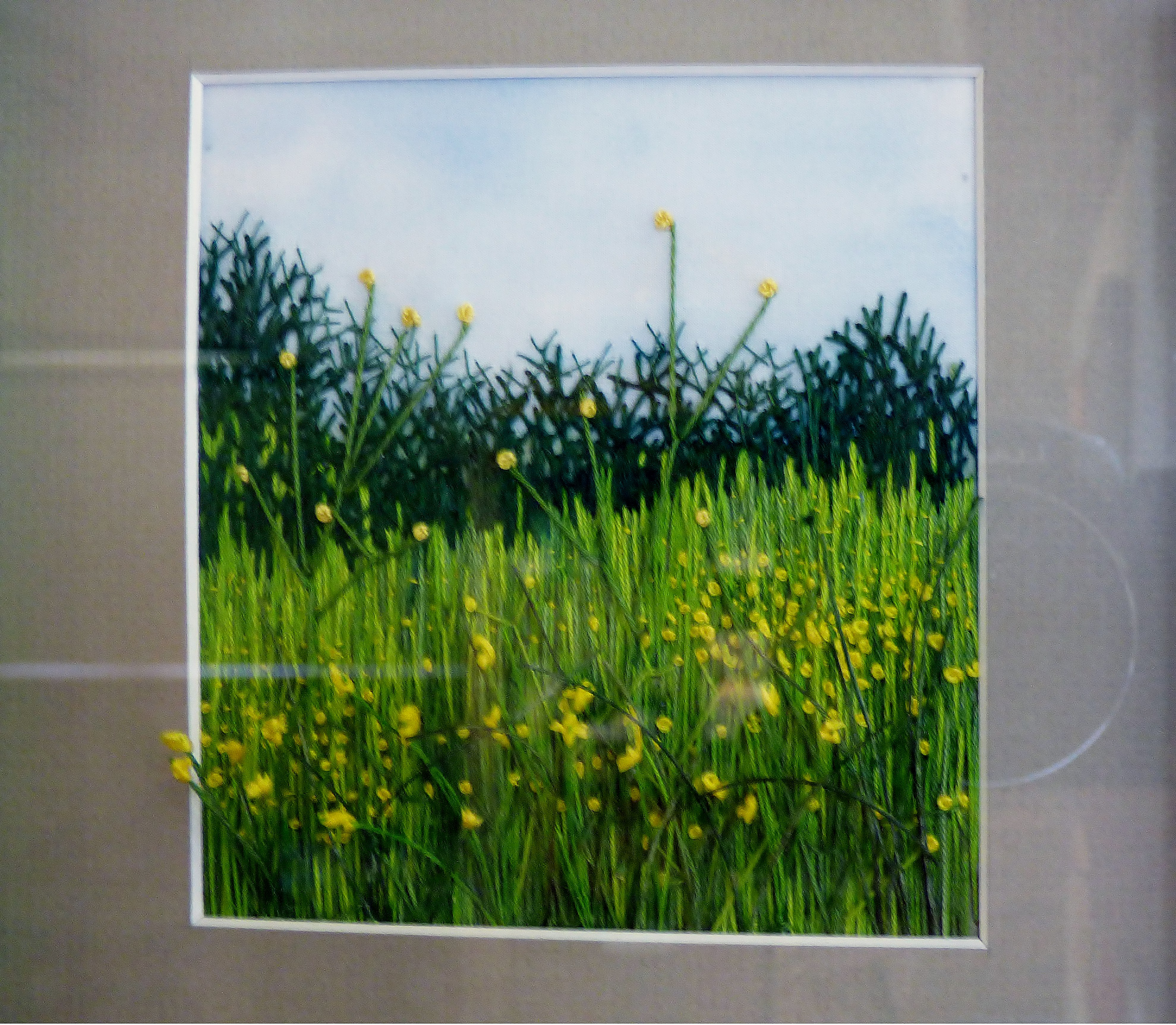 DANDELIONS by Rita Kurzwell, free style embroidery