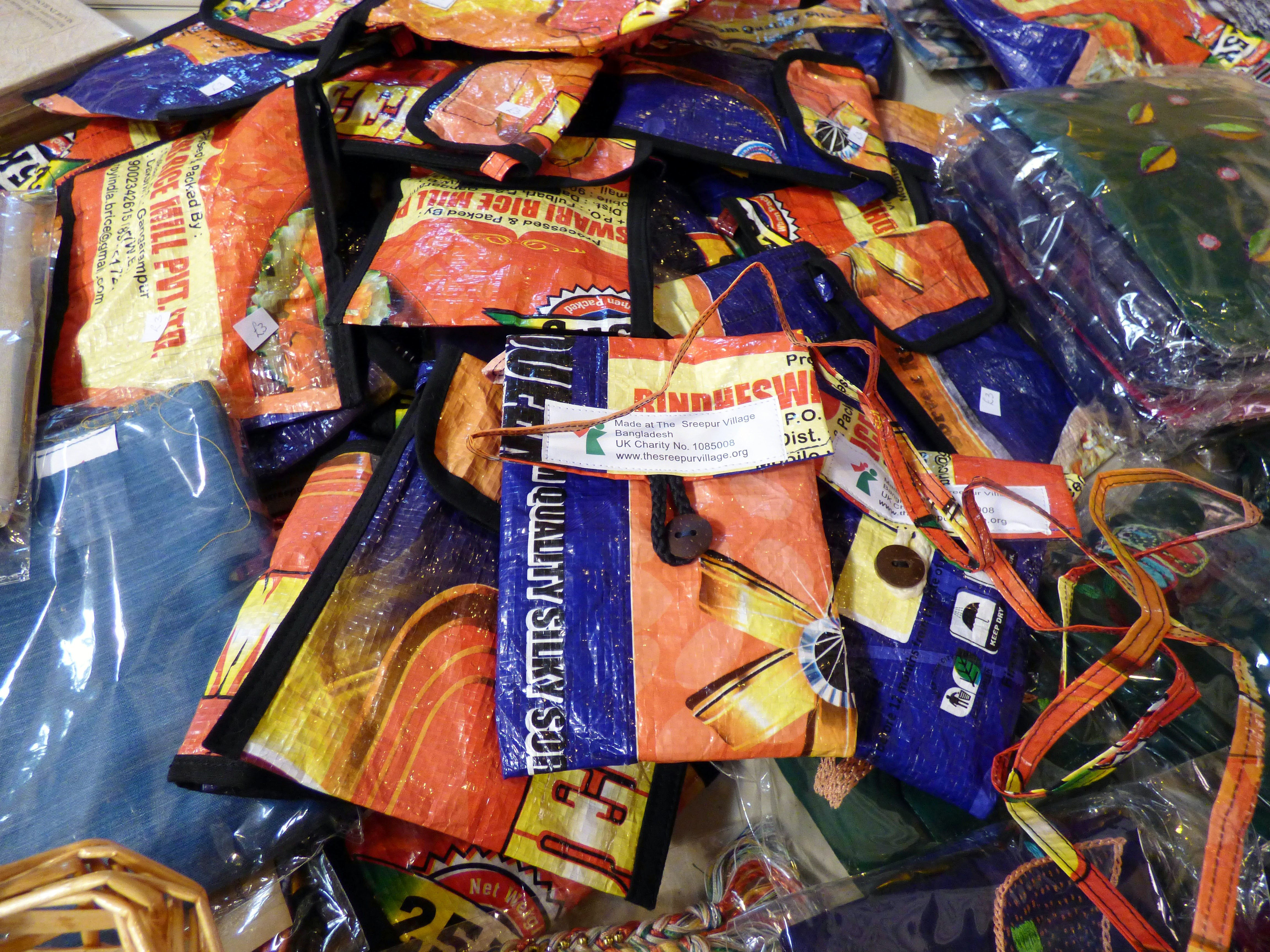 mobile phone bags for sale at Sreepur stall in St Barnabus, April 2016