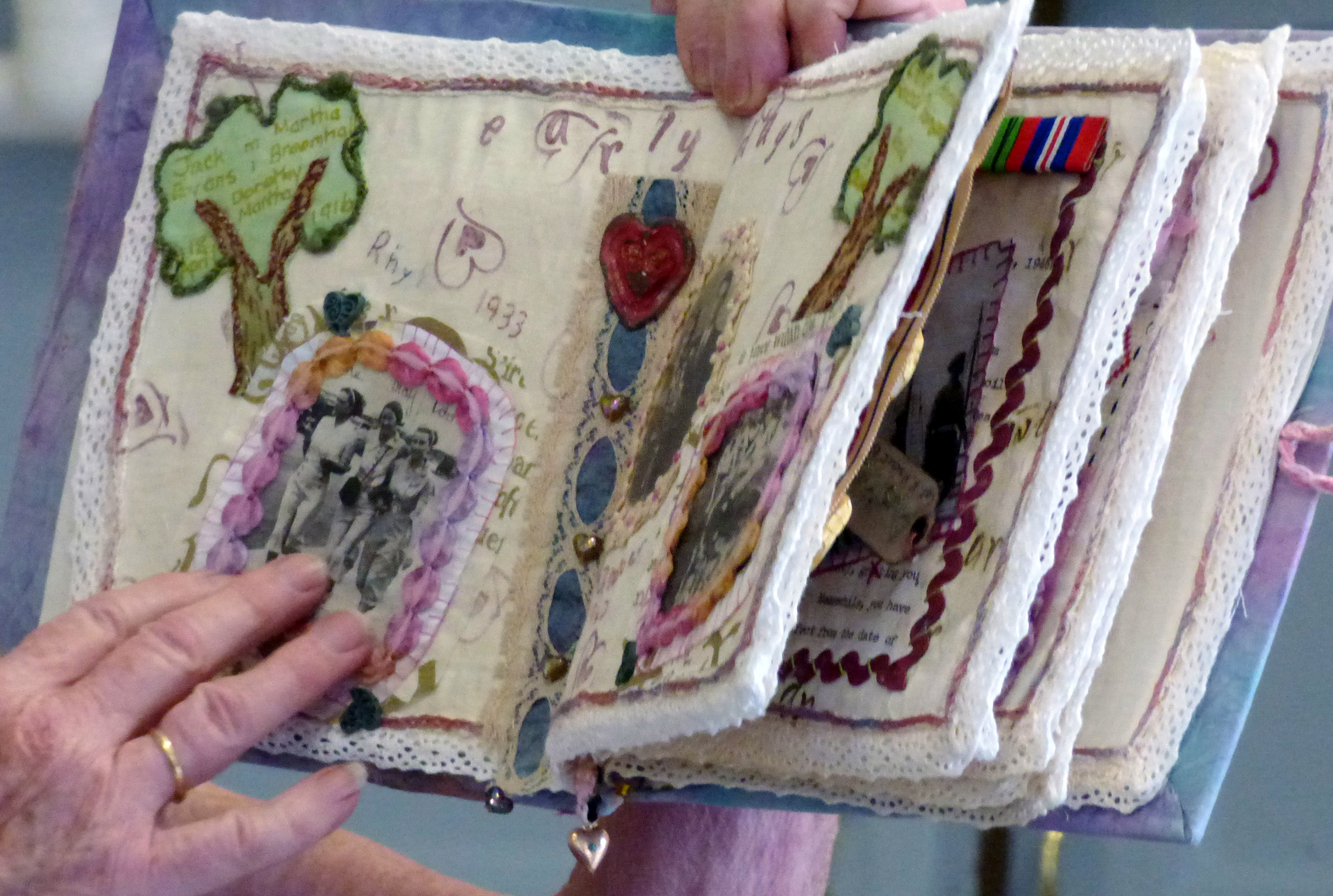 textile journal by Chris Harris on the life of her father