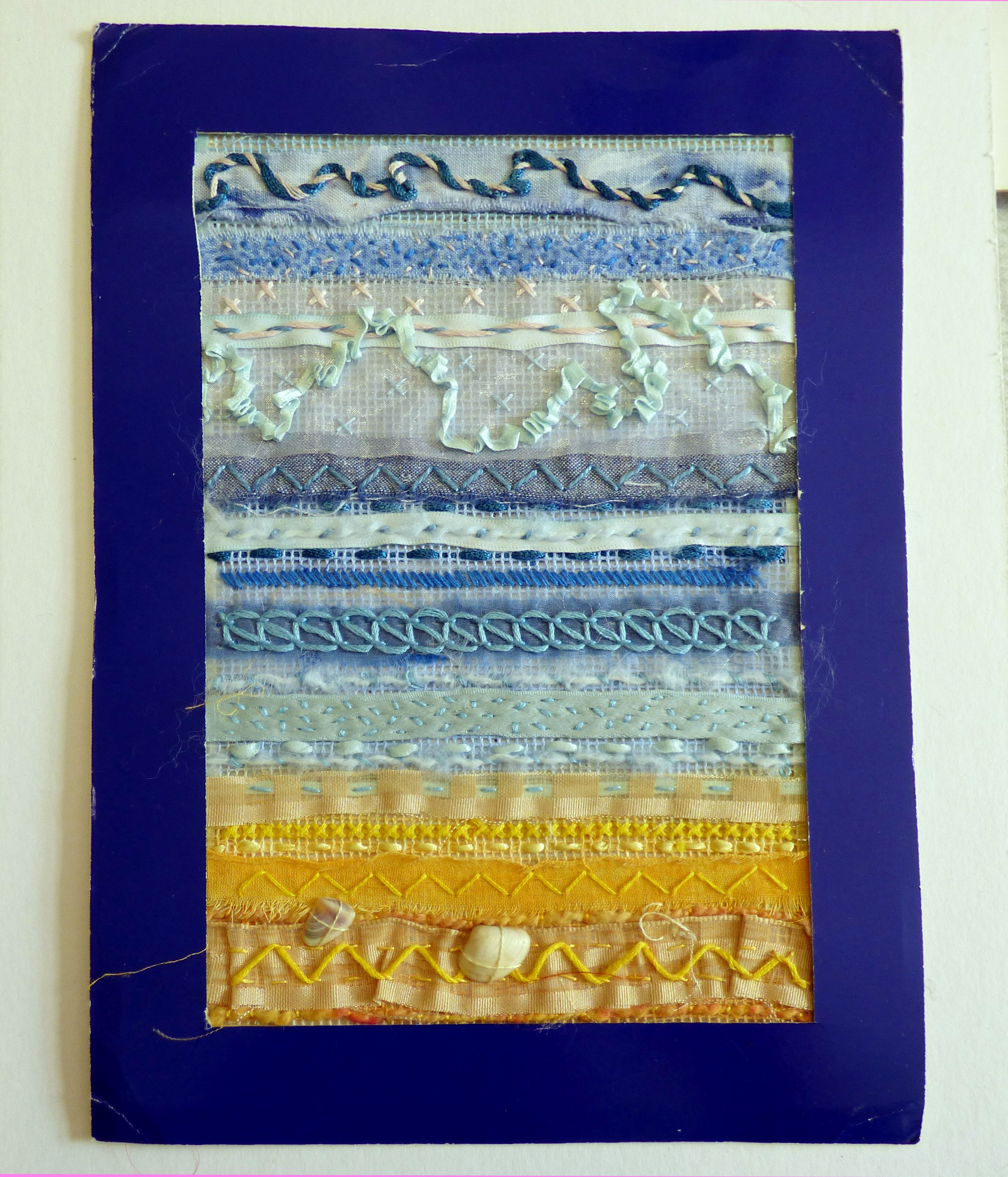 ribbon embroidery by children of Kettleshulme C of E School, Derbyshire