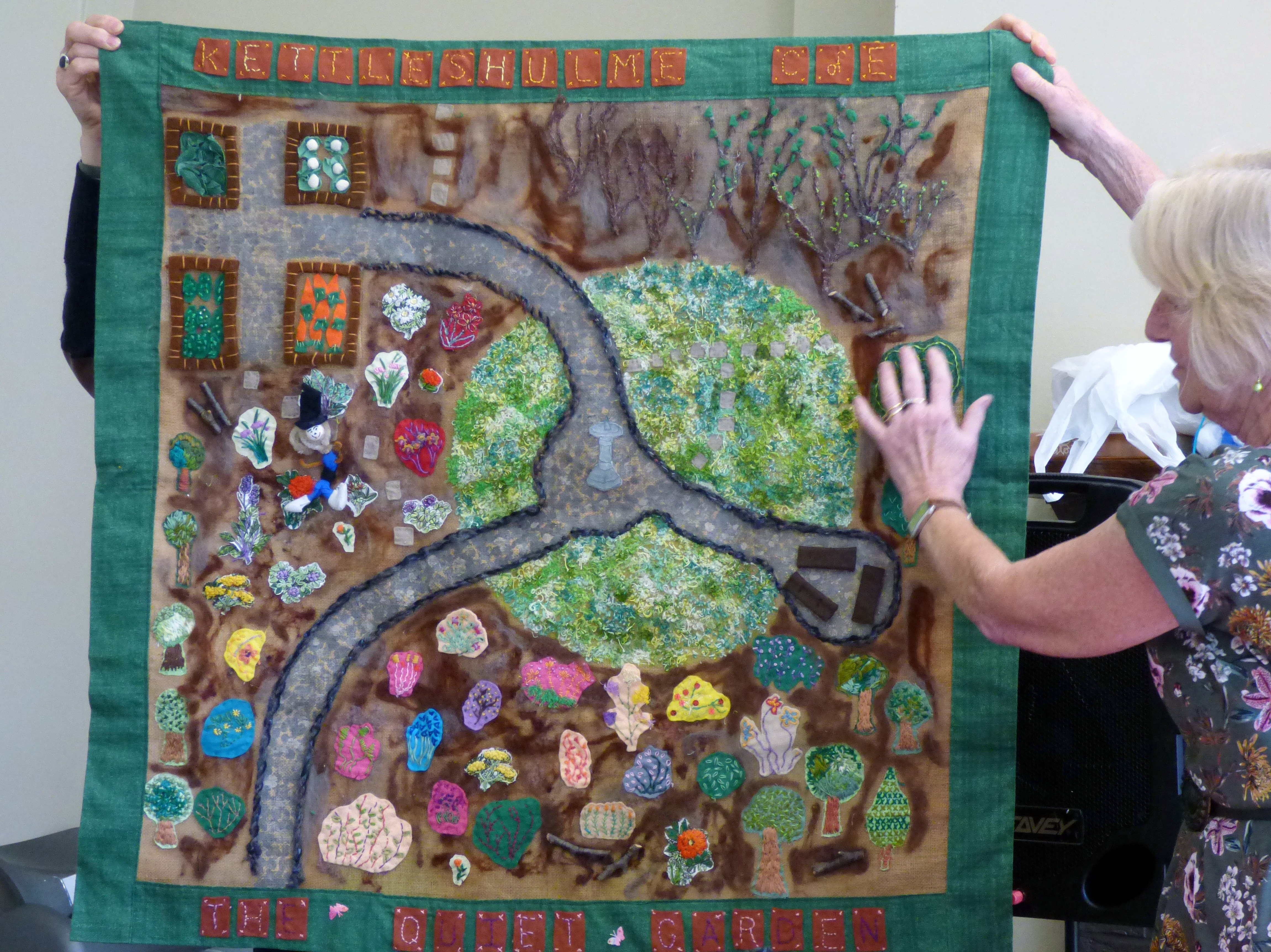 THE QUIET GARDEN Group Project made by children from Kettleshulme C of E school, Derbyshire