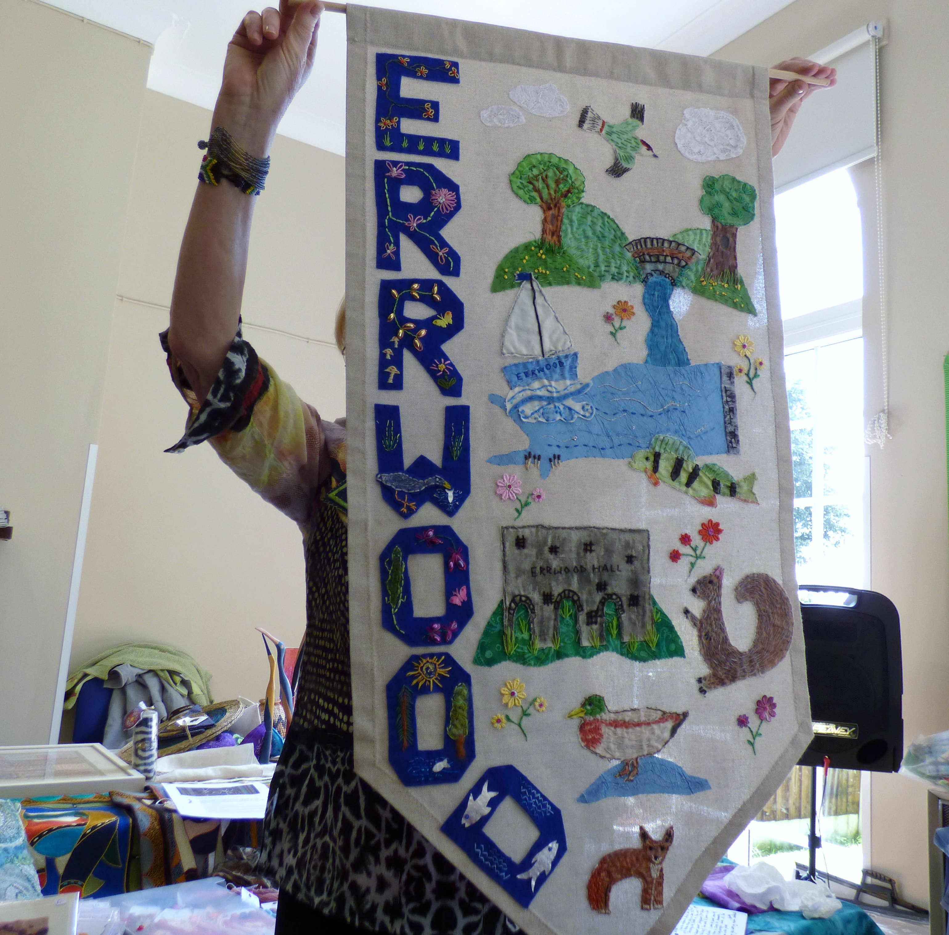 hanging made by children from Kettleshulme C of E school, Derbyshire