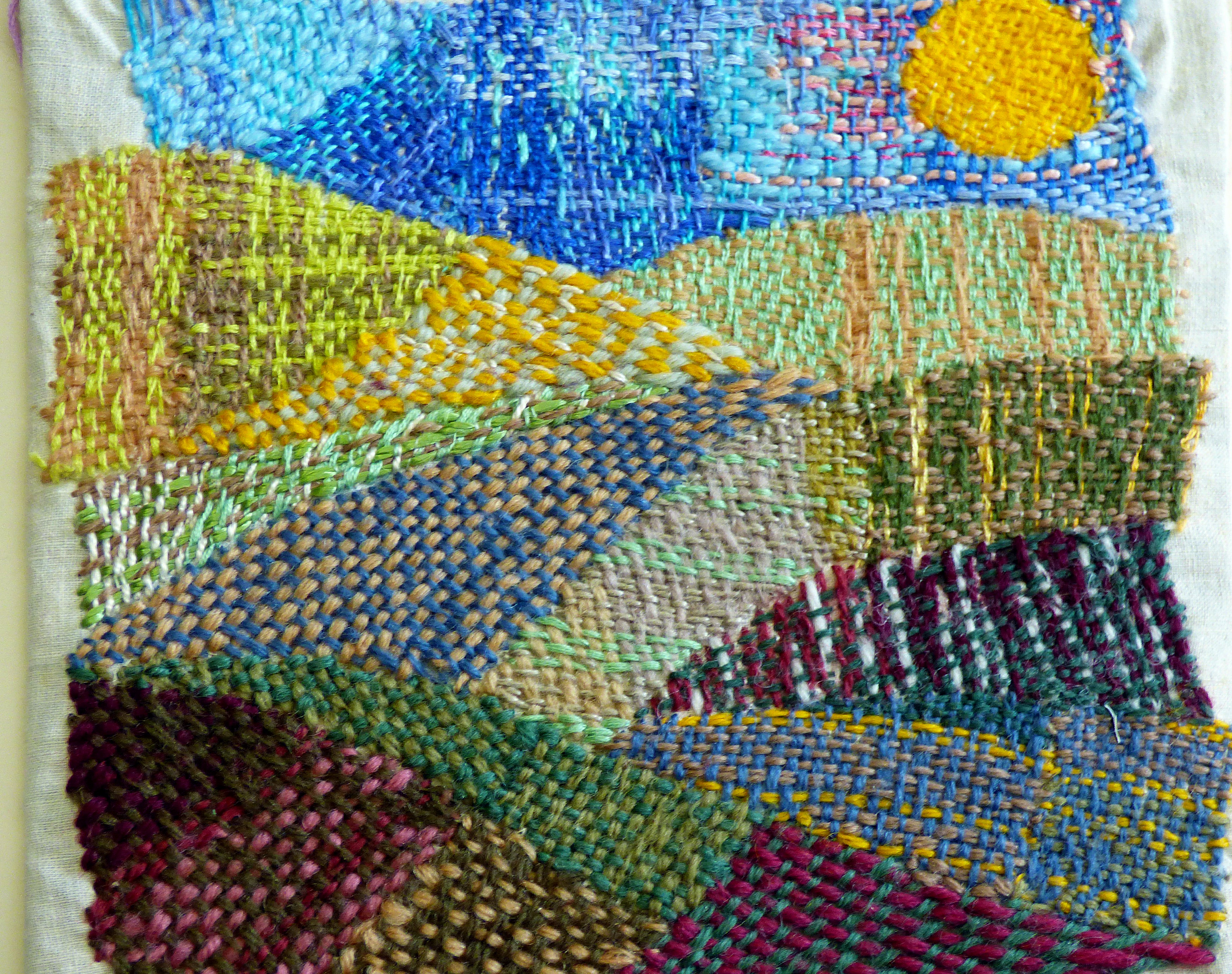 detail of embroidery by children of Kettleshulme C of E School, Derbyshire