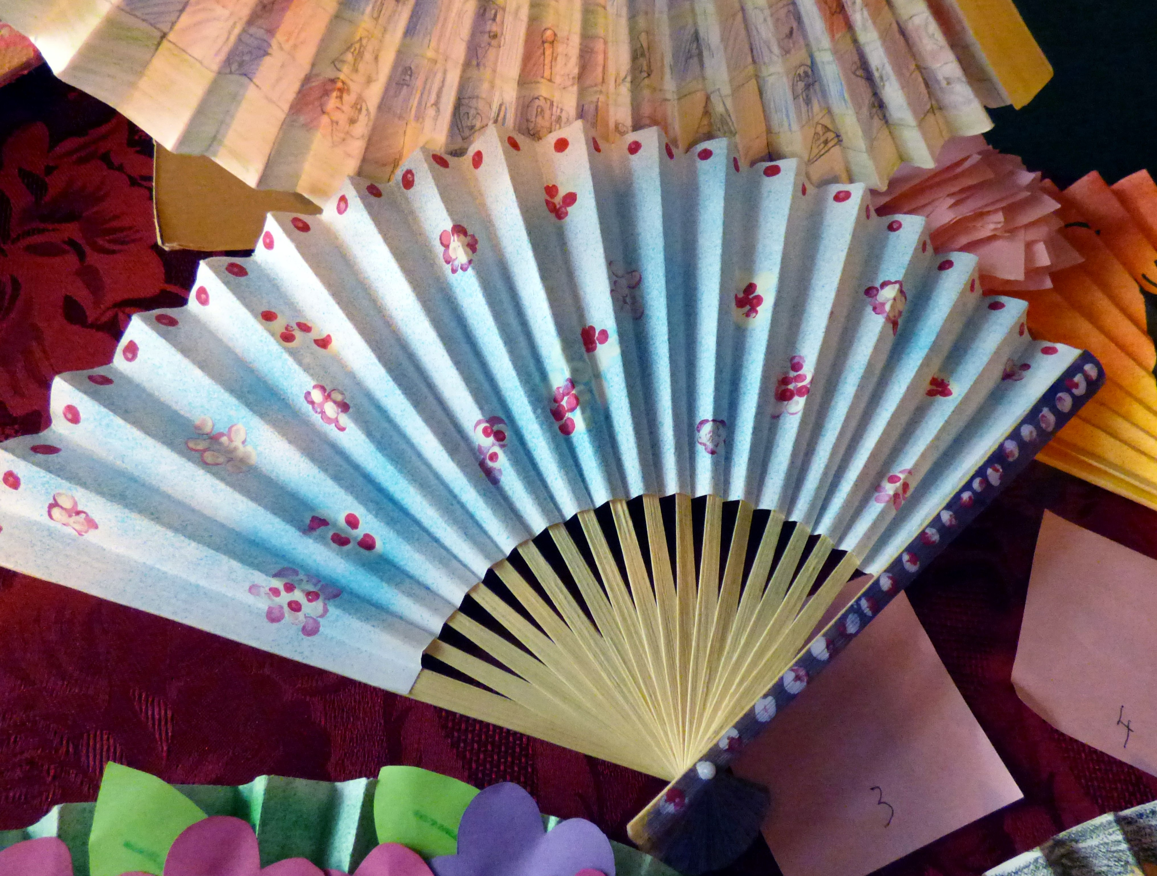 """entry to """"Decorate a Fan"""" competition for YE members at MEG Summer Tea Party 2016"""