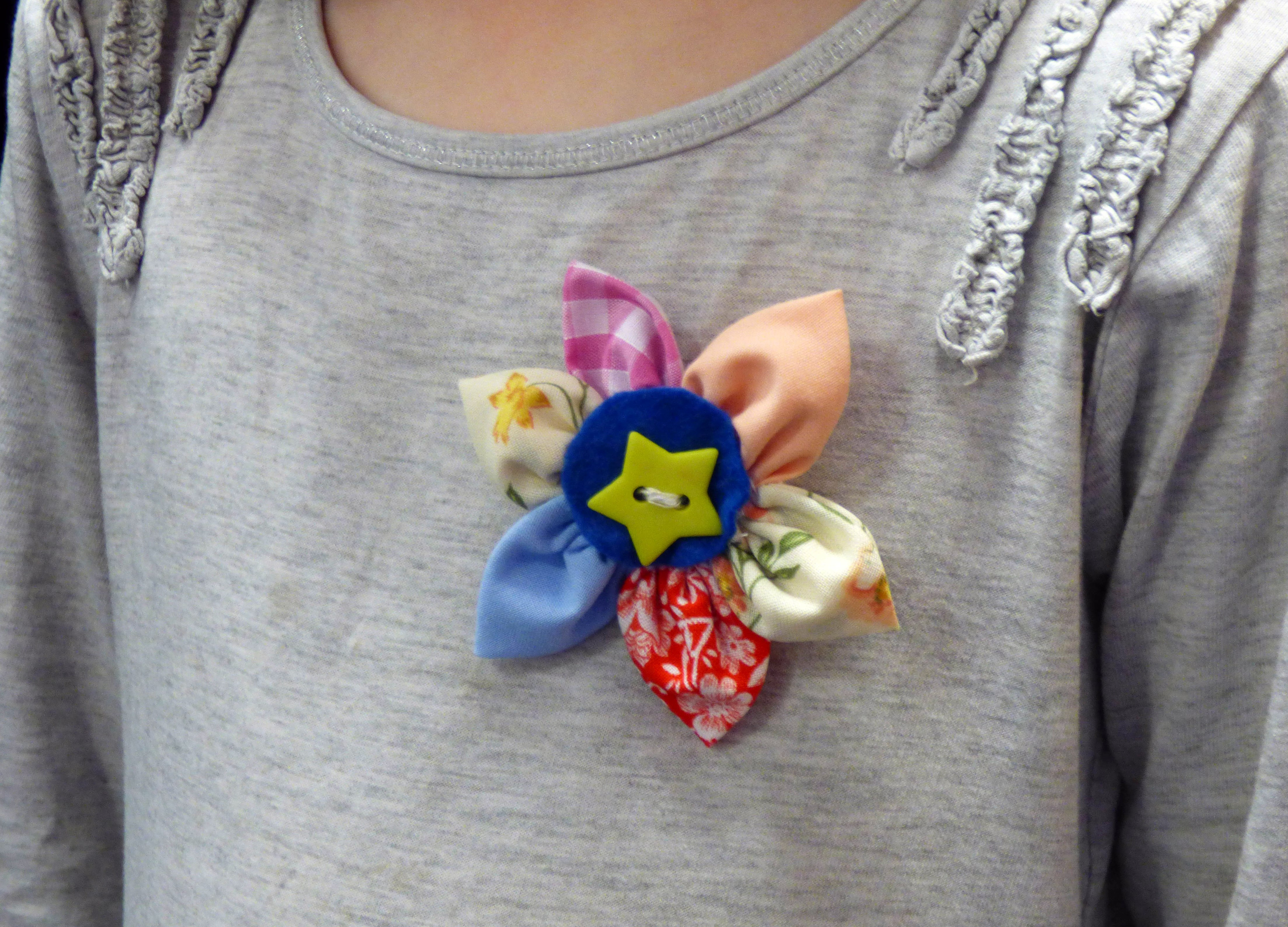 a flower badge made by one of our newest members in YE group 2016