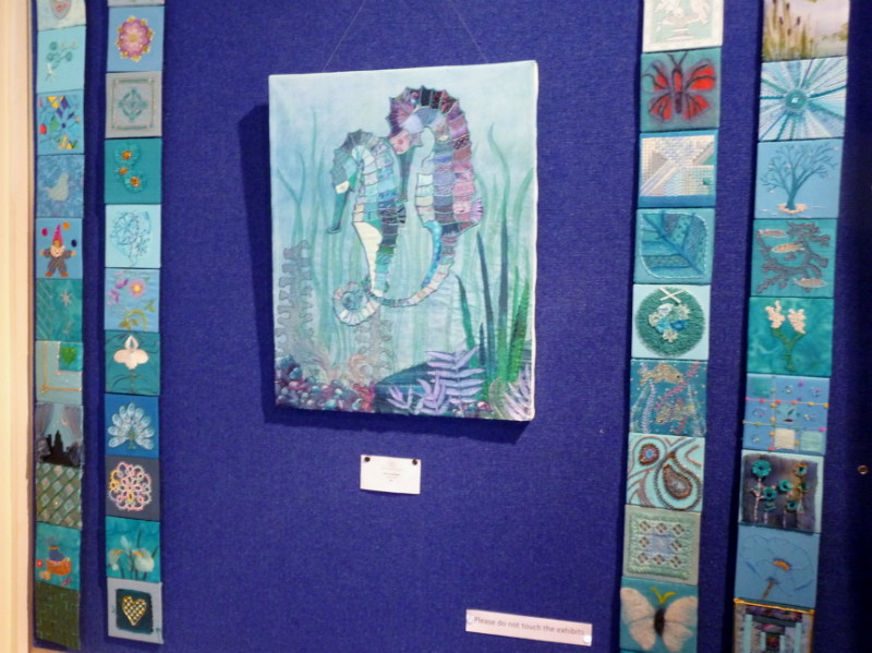 AQUARIUM by Beryl Waterfield and turquoise squares