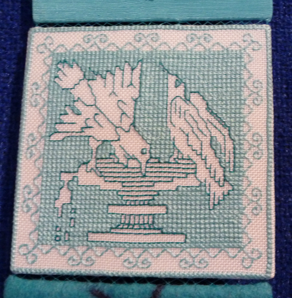 detail of turquoise squares