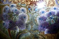 Antique embroidery in Macclesfield Silk Museum