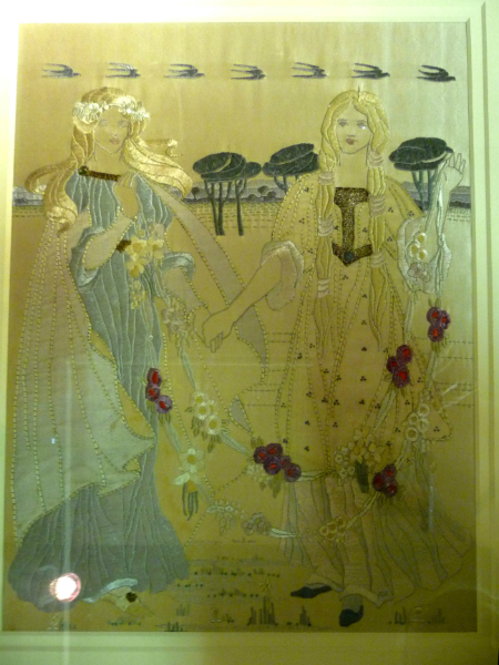 ""\""""Aesthetic Ladies"""", an embroidered panel, silk on linen, by the Glasgow School of Art, circa 1900""450|600|?|en|2|dde5627832cef77bd1841aeb0162171a|False|UNLIKELY|0.30914726853370667