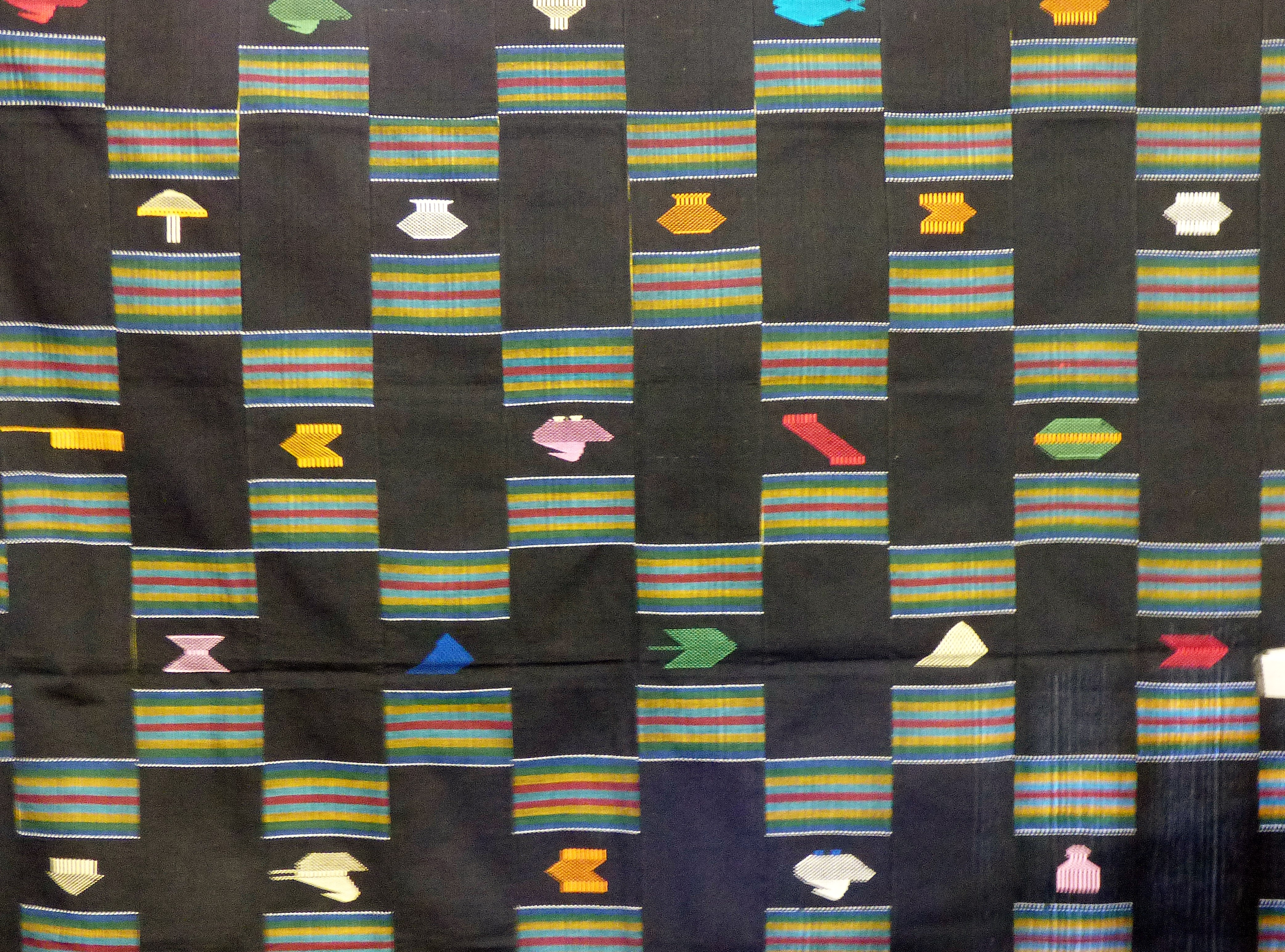 West African strip cloth shown by Magi Relph