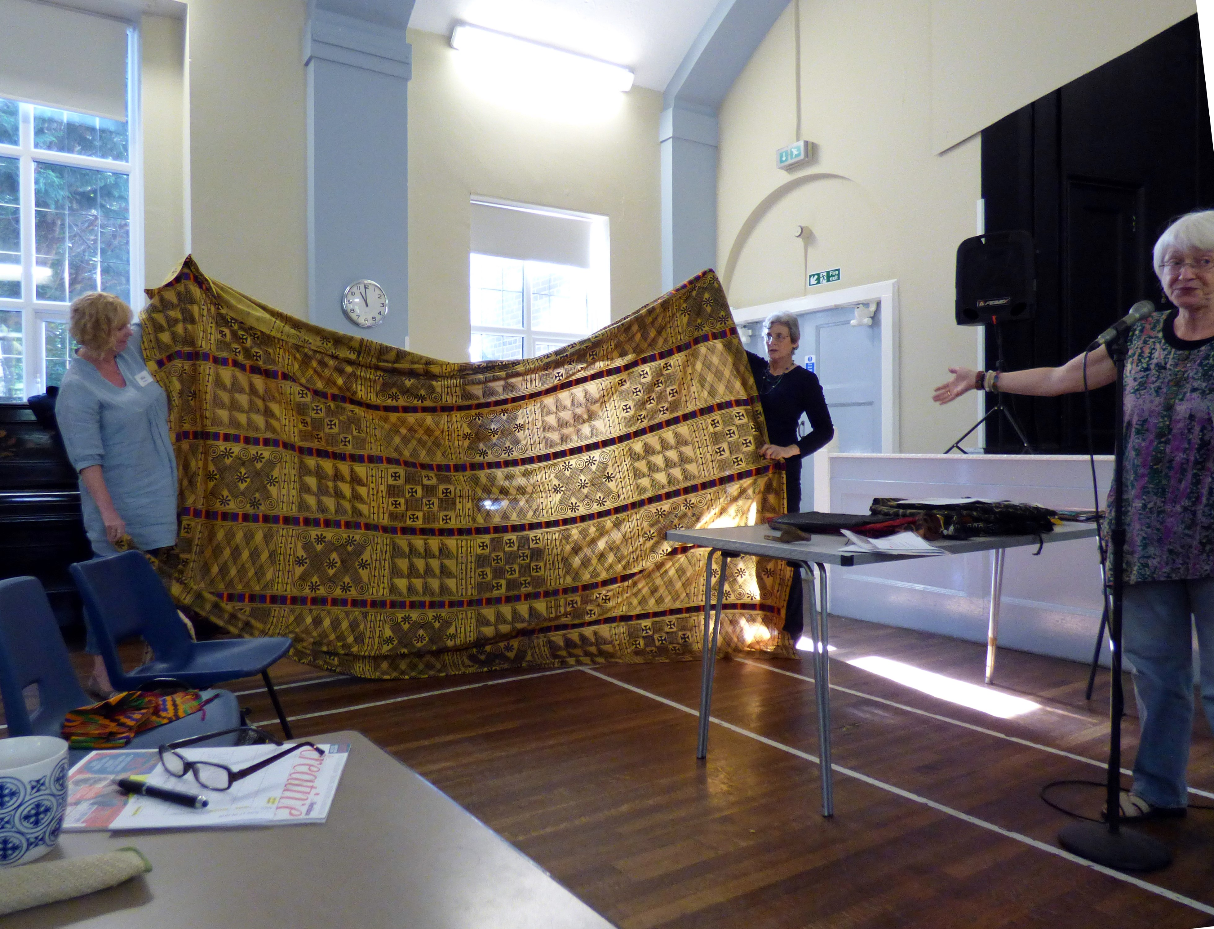 West African wearing cloth shown by Magi Relph and displayed by Mal and Kim