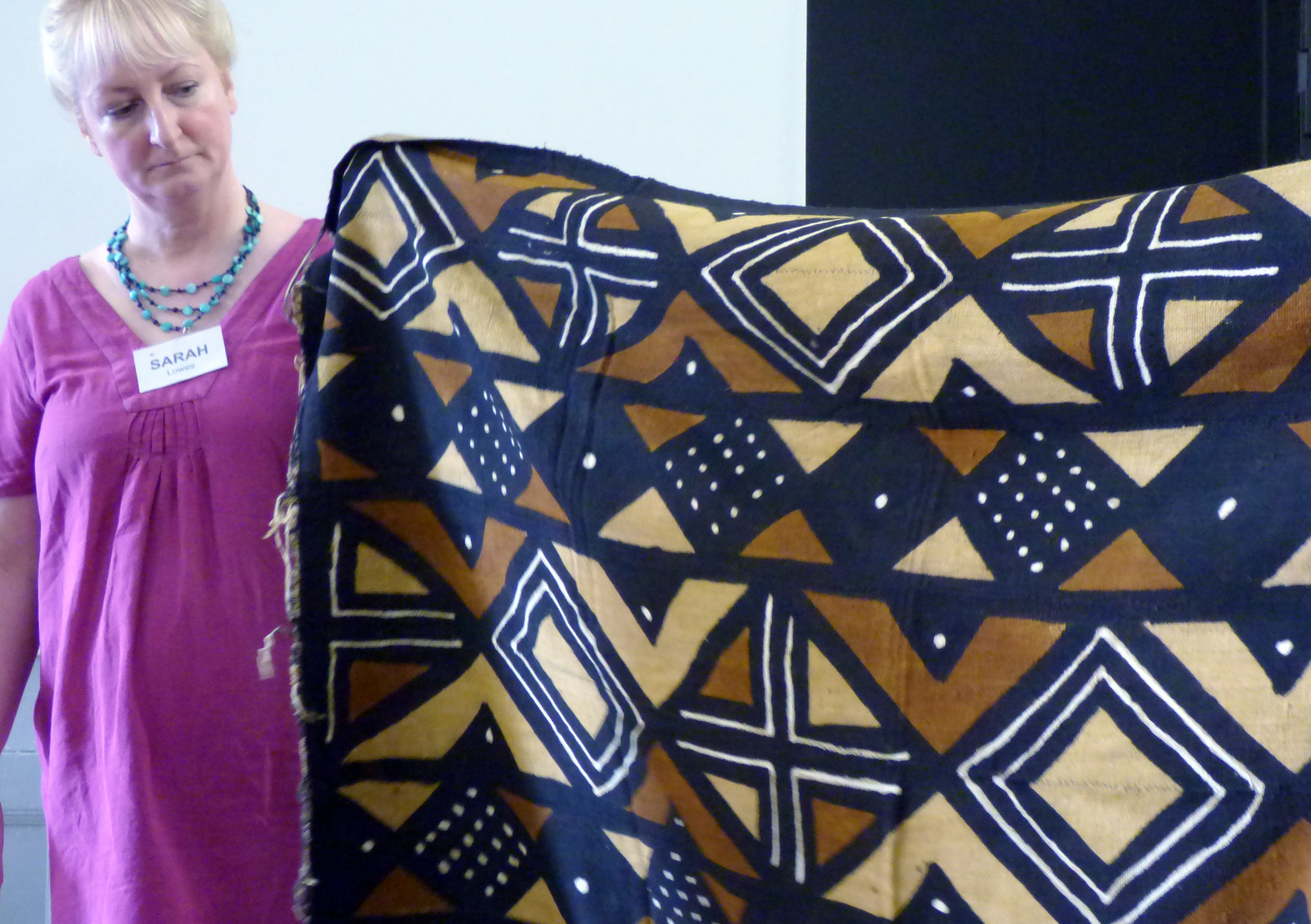 """West African cloth at Magie Relph's """"Ashanti Inspirations"""" talk"""