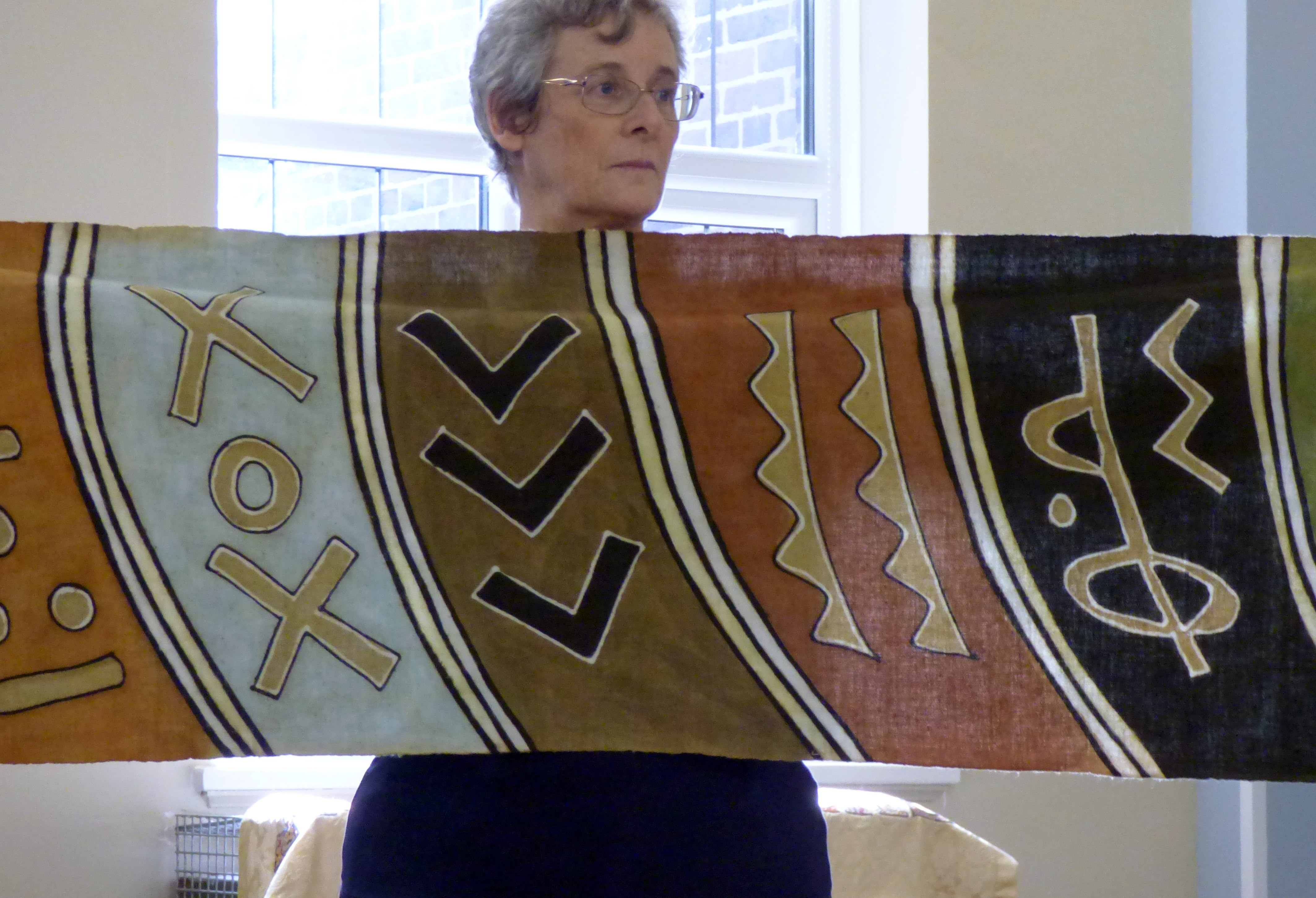 West African cloth displayed by Kim Parkman