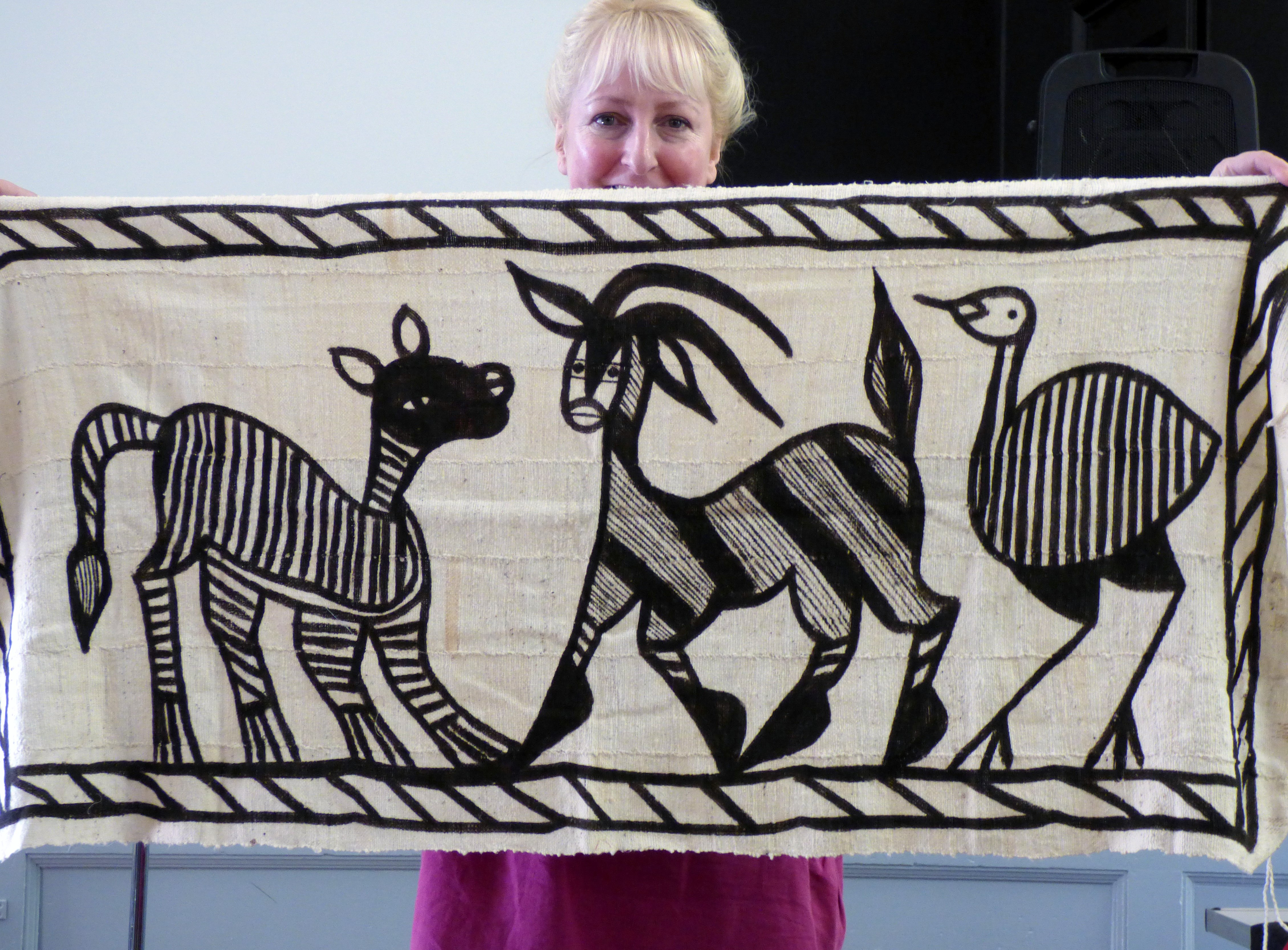 West African cloth displayed by Sarah Lowes