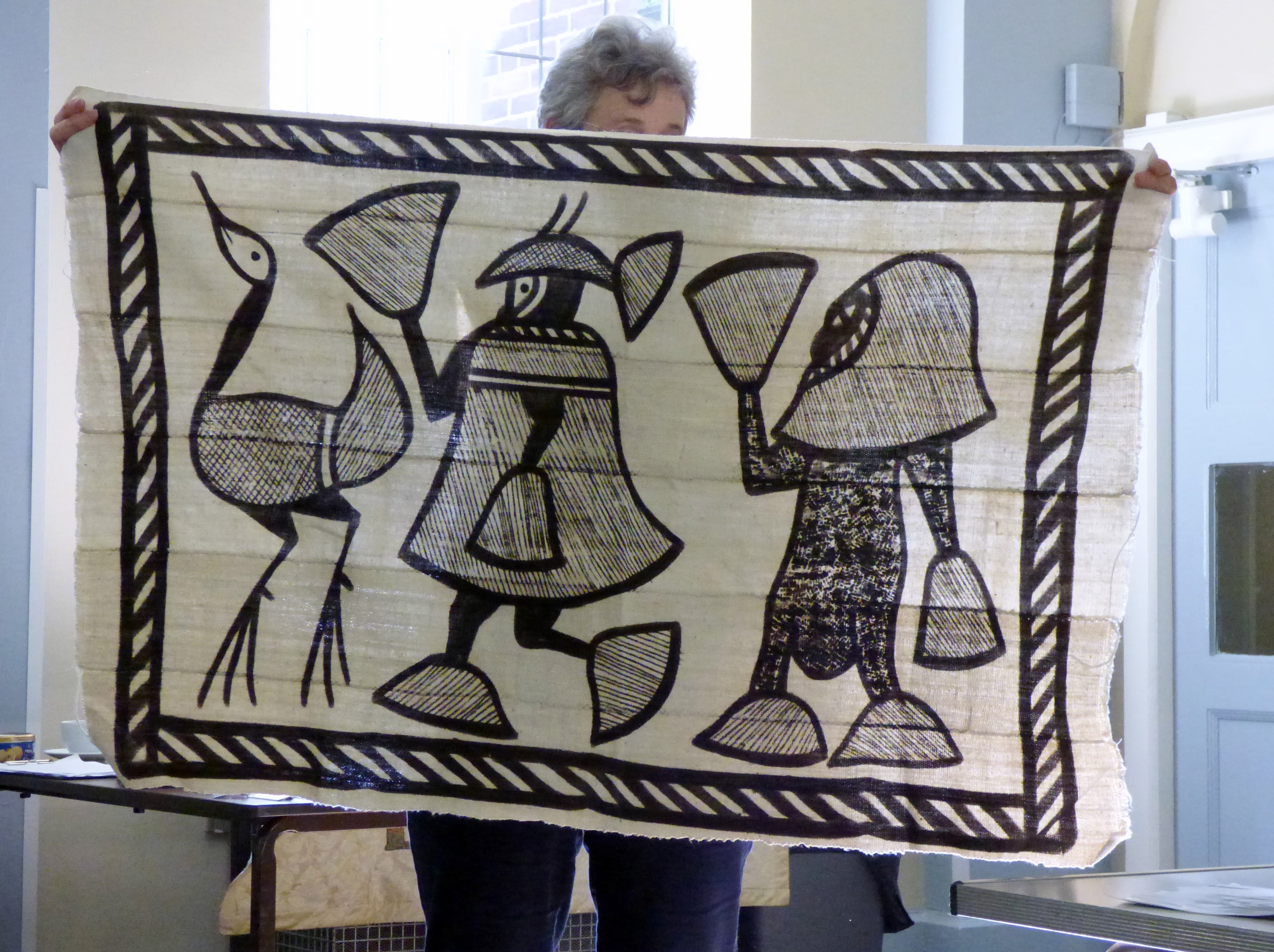 West African cloth displayed by Kim