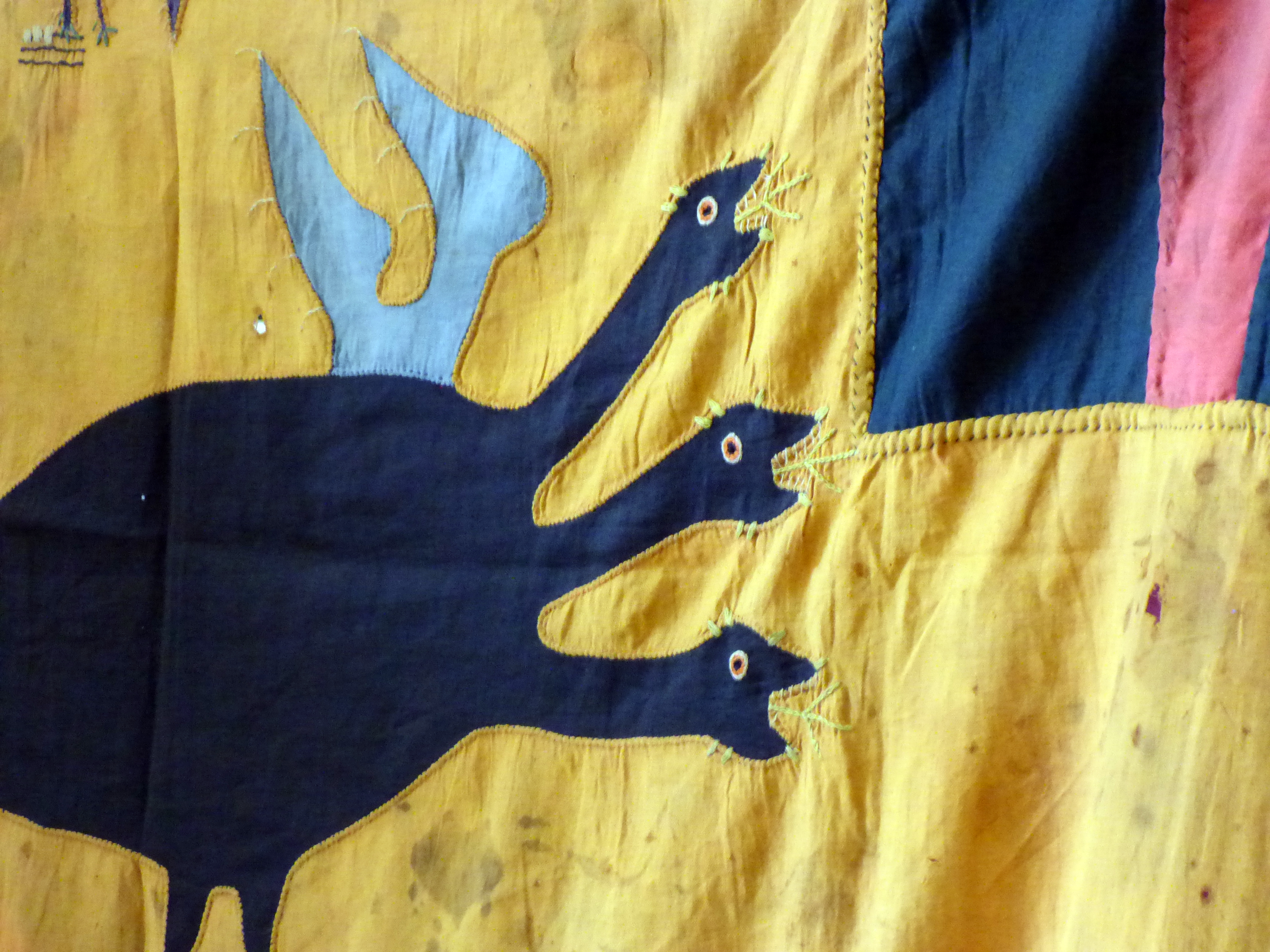 detail of West African army battalion flag