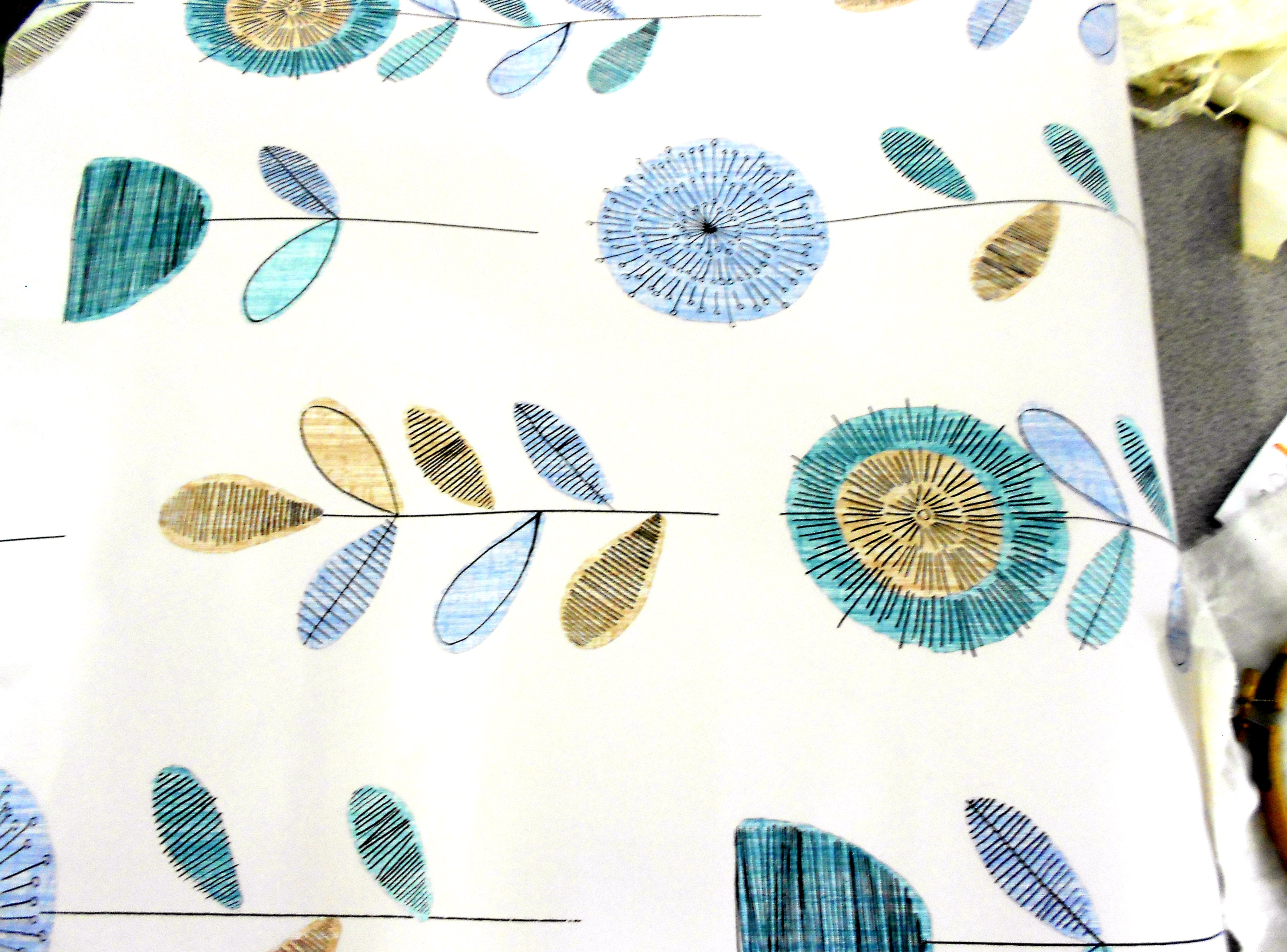 fabric sample by Angie Lewin