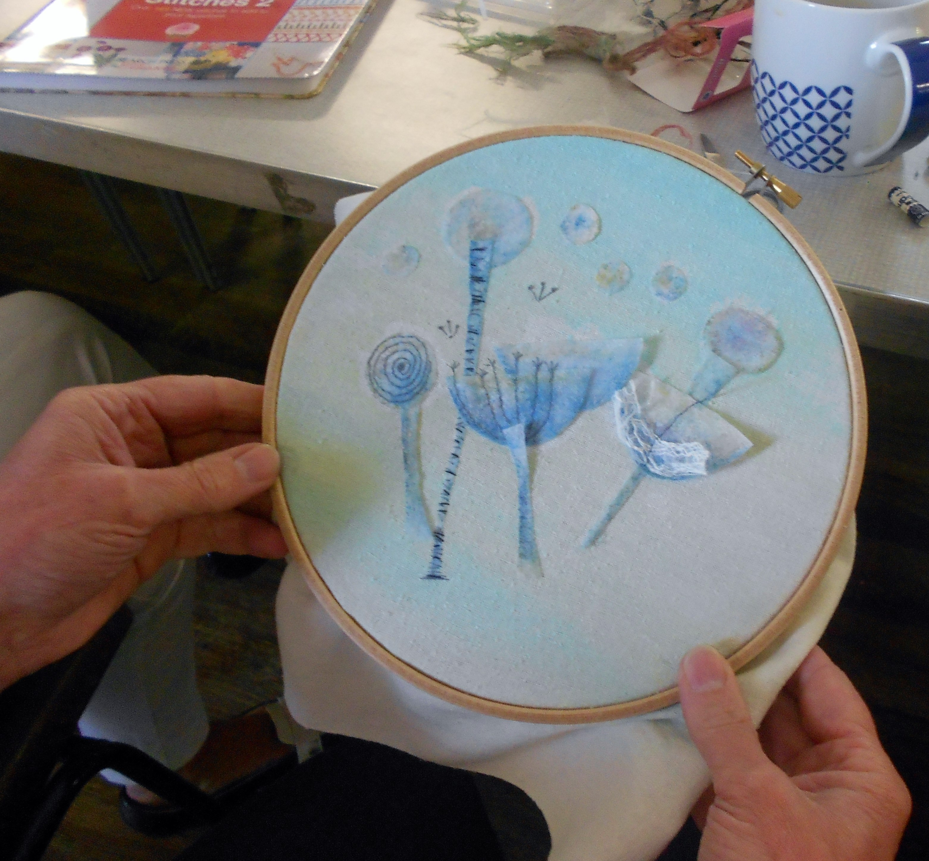 student's work at Janet Vance's August 2015 Workshop