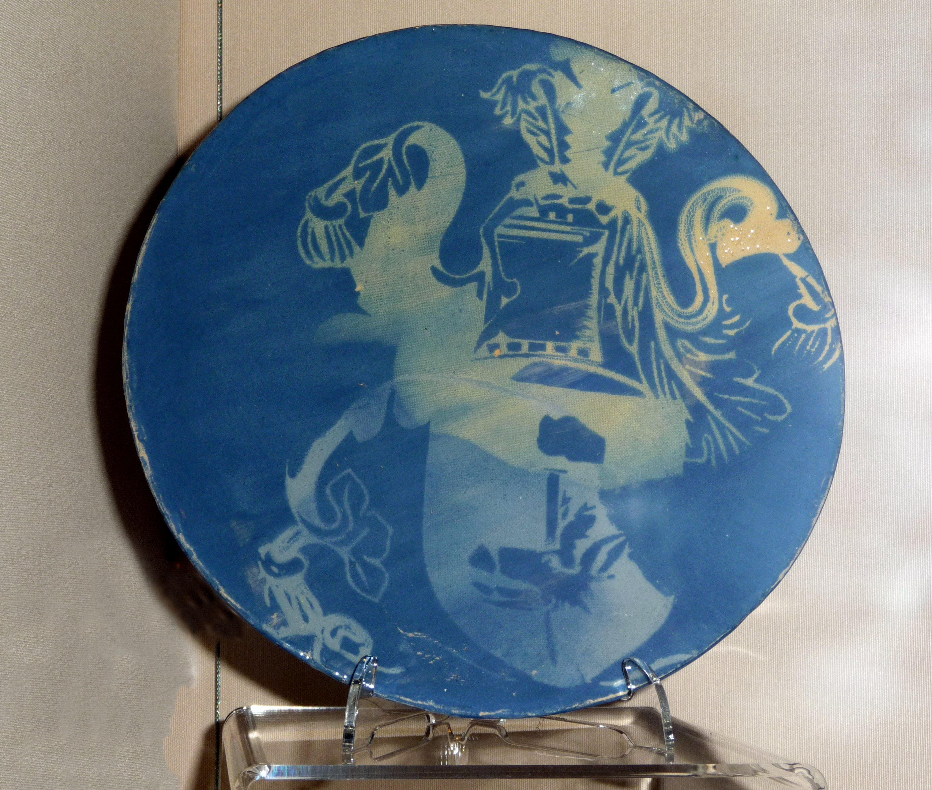 PLATE by Charlotte Fahey, 2014, earthenware