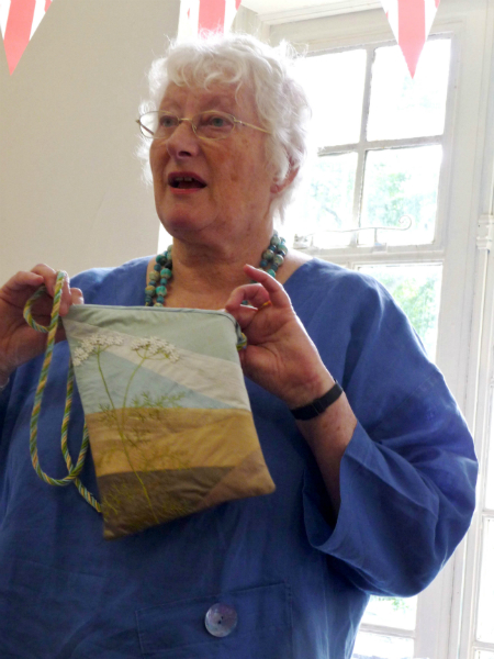 Ann Rogers with Phoebe\'s bag