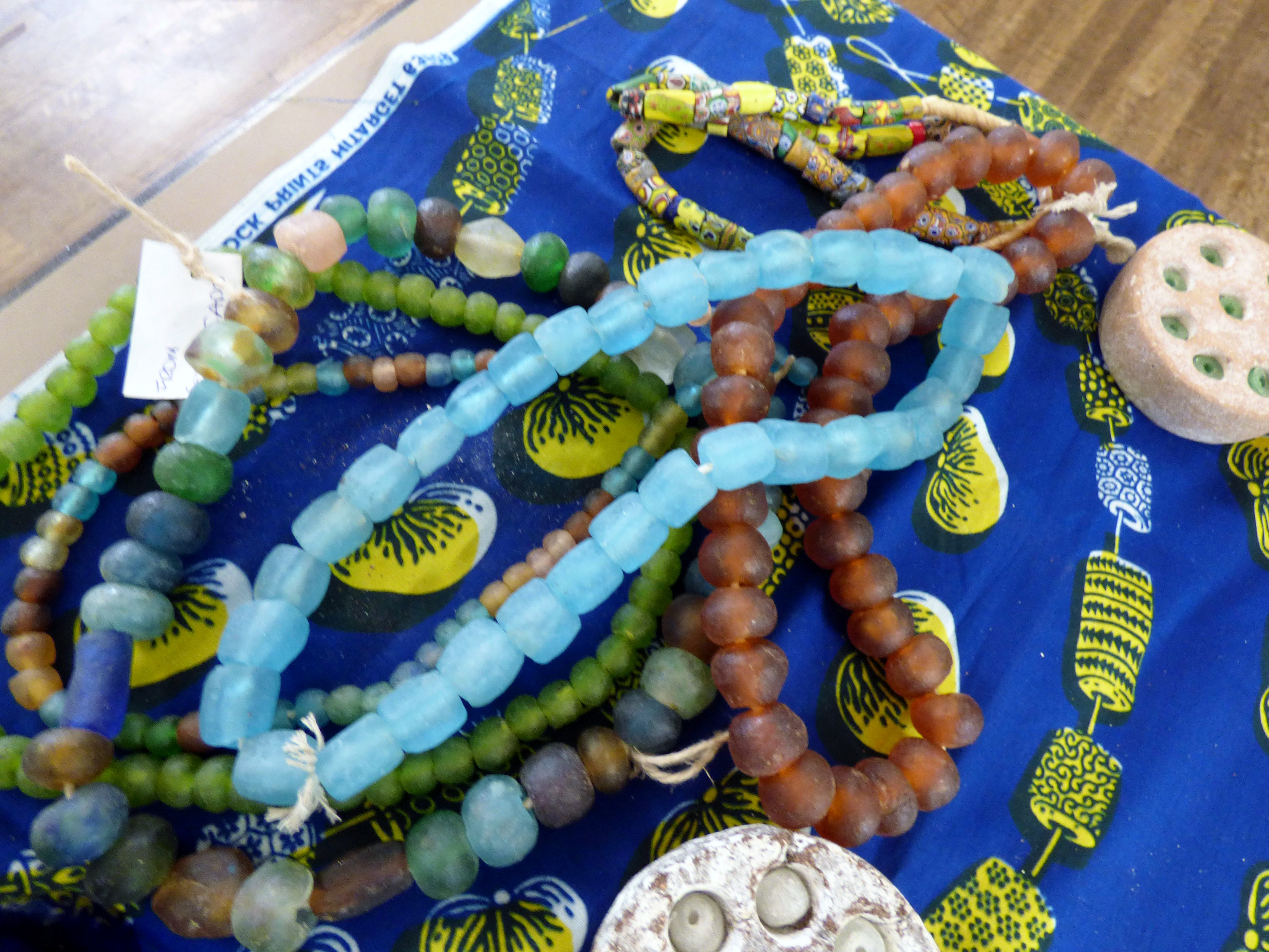 beads made from glass bottles, Beauty and the Bead Talk 2019