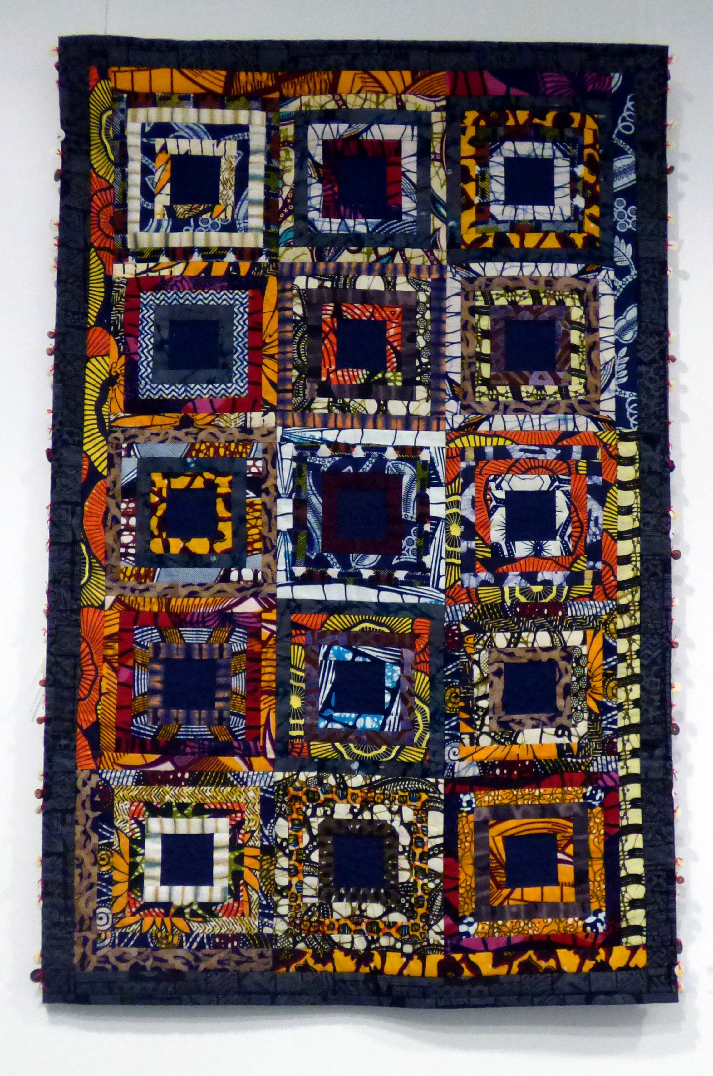 RICH PICKINGS by Sylvia Wood, quilted hanging, Ten Plus @ The Atkinson 2018